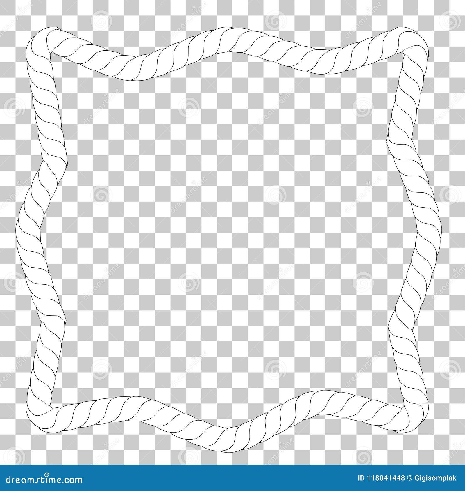 Asymetrische Quadratische Form, Rahmen Vom Weißen Seil Für Ihr ...