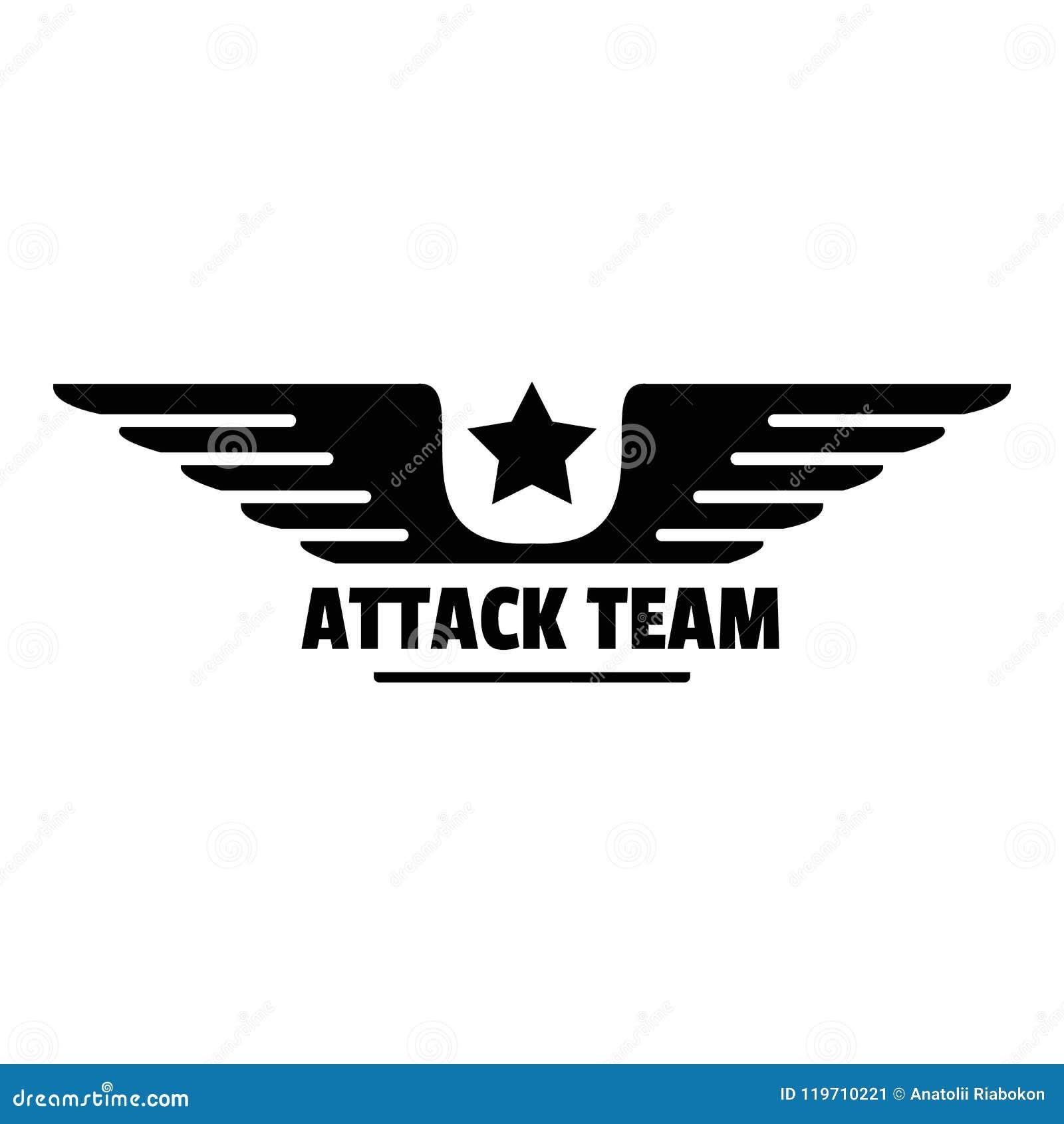 Atack avia drużyny logo, prosty styl