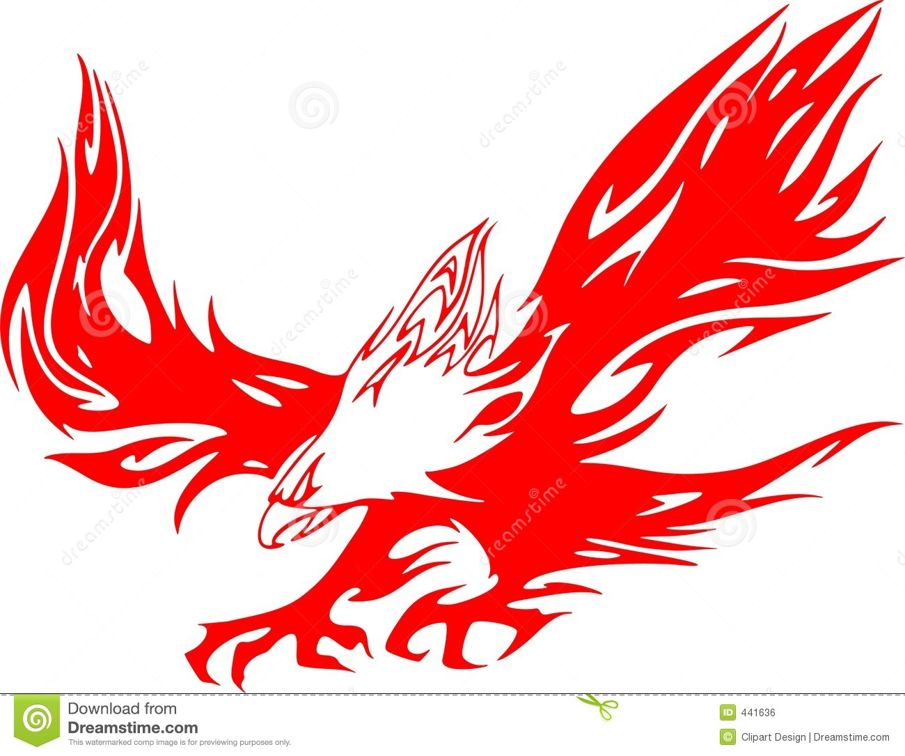 Atacking Eagle In Flames 1 Royalty Free Stock Image