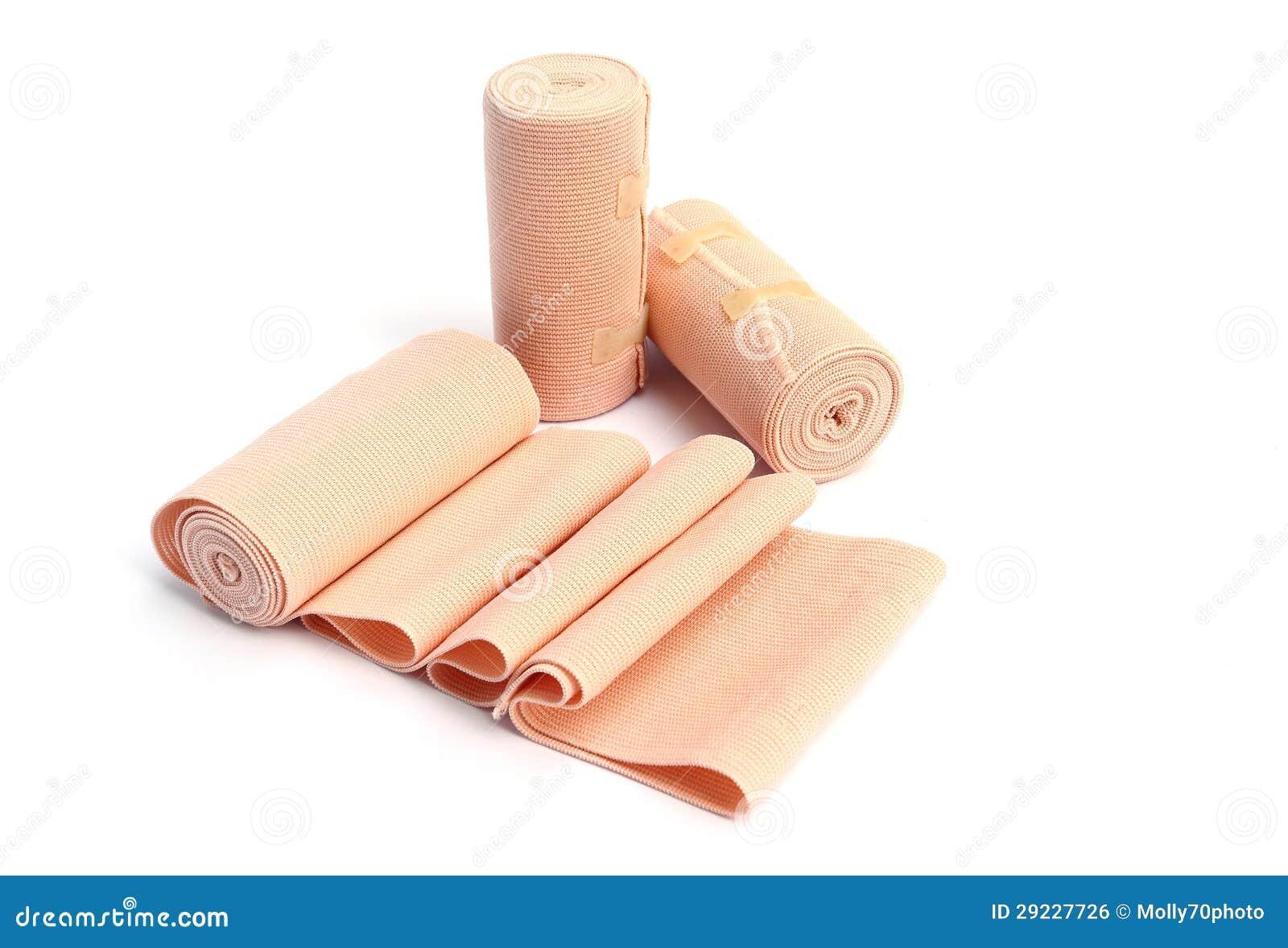 Download Atadura Elástica No Fundo Branco Foto de Stock - Imagem de tampa, bandage: 29227726