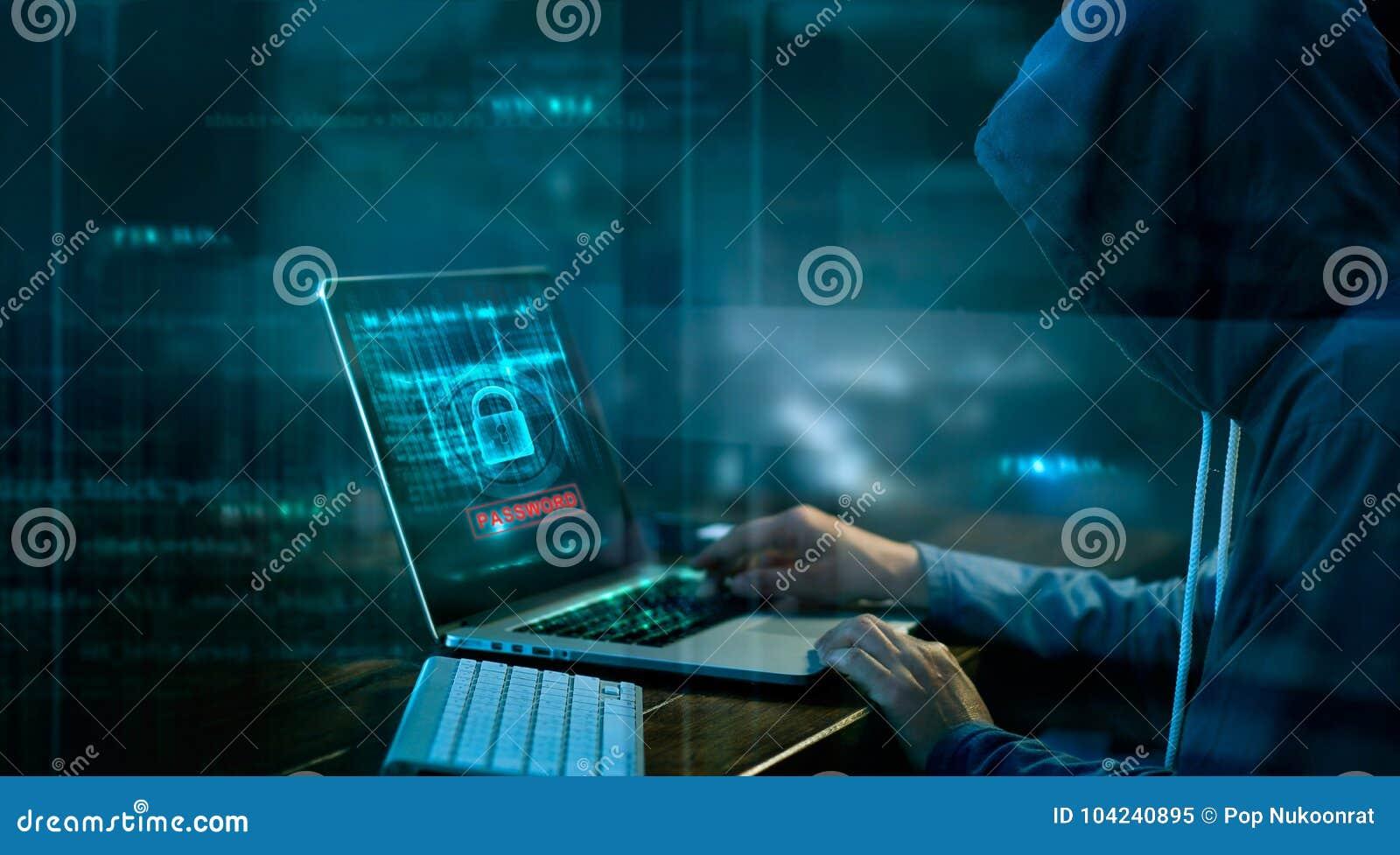 Ataque cibernético o delito informático que corta contraseña