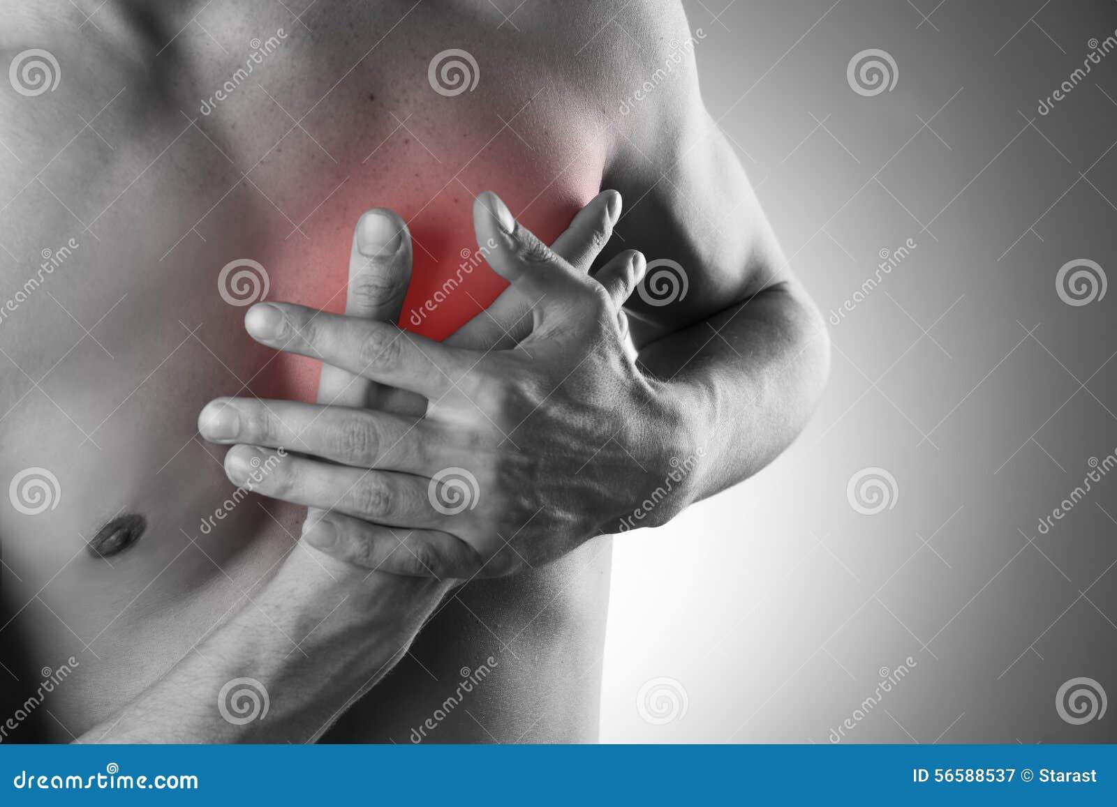 Ataque del corazón Dolor en el cuerpo humano