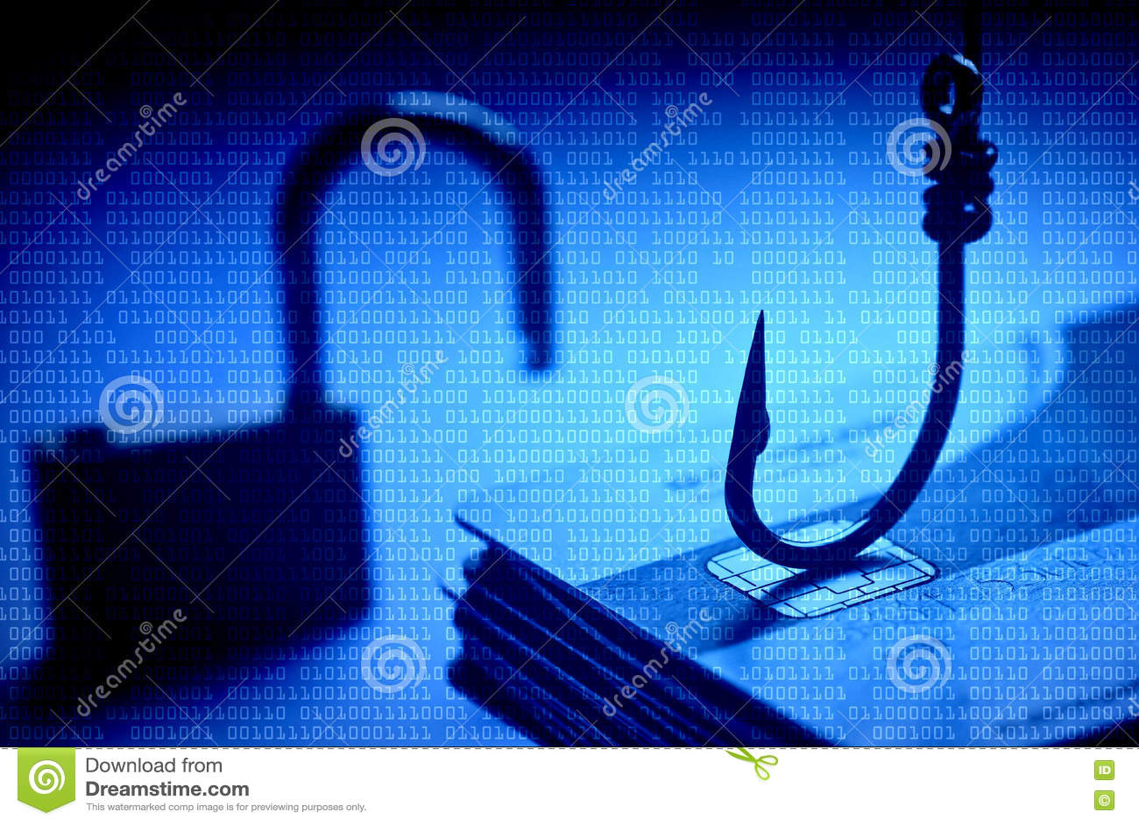 Ataque del phishing de la tarjeta de crédito