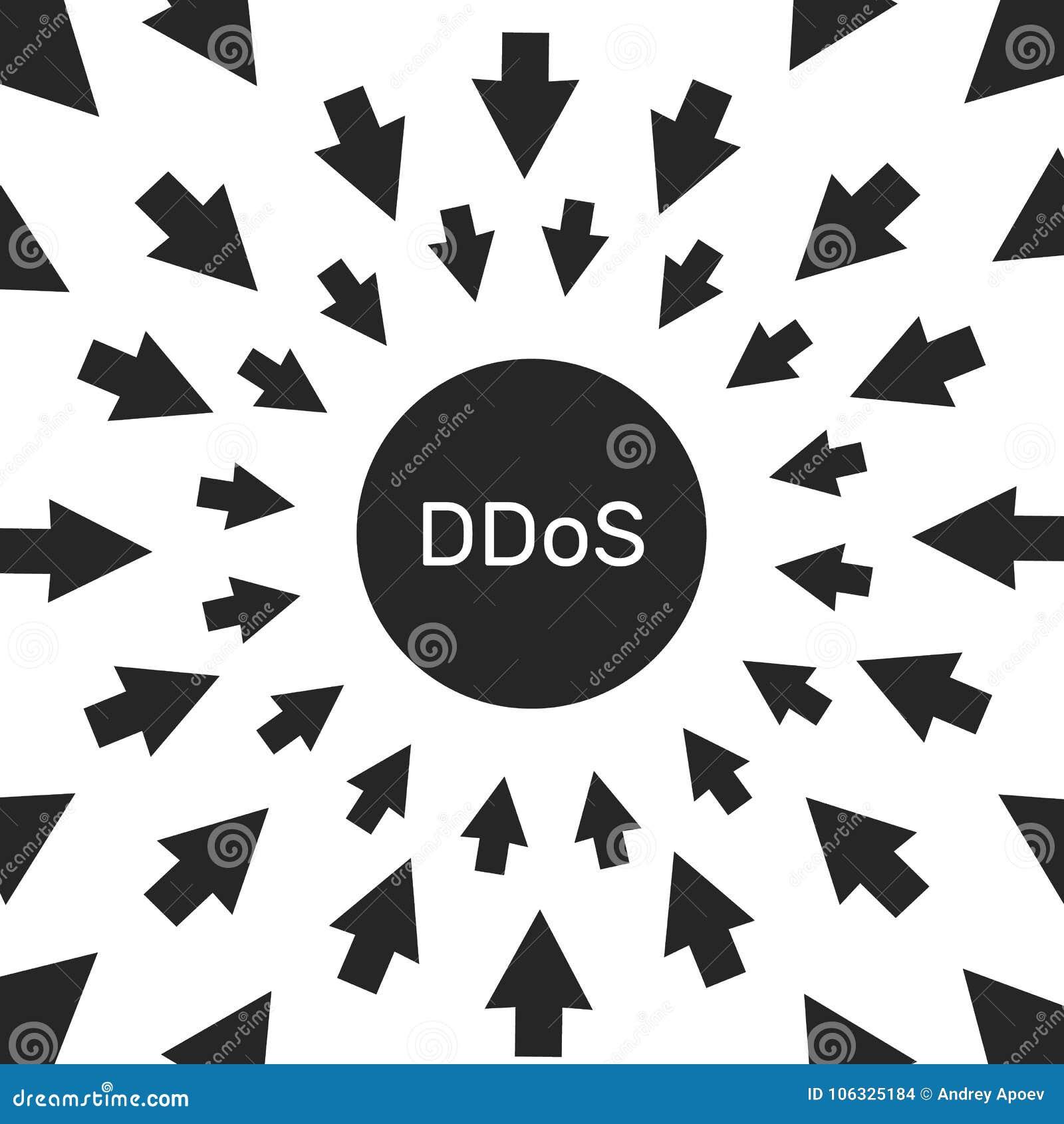 Ataque do hacker de DDoS ameaça da segurança informática e da rede