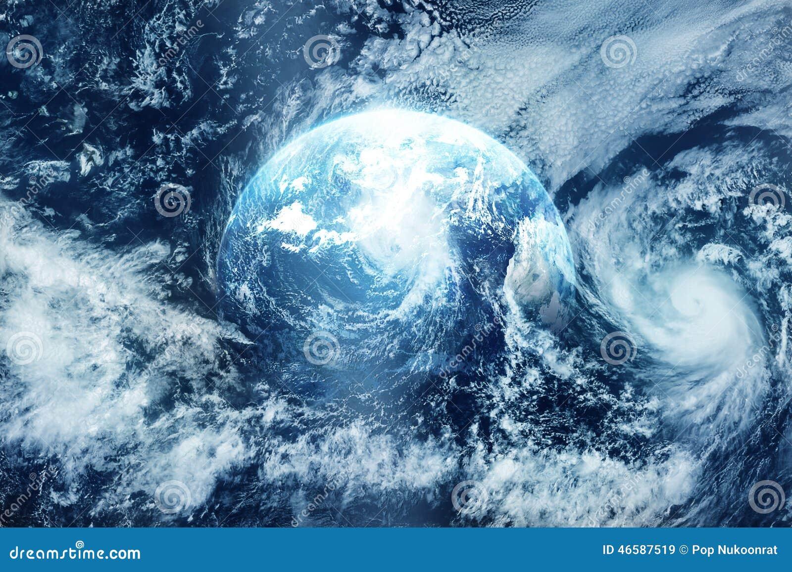 Ataque na terra, vista do espaço, imagem original da NASA