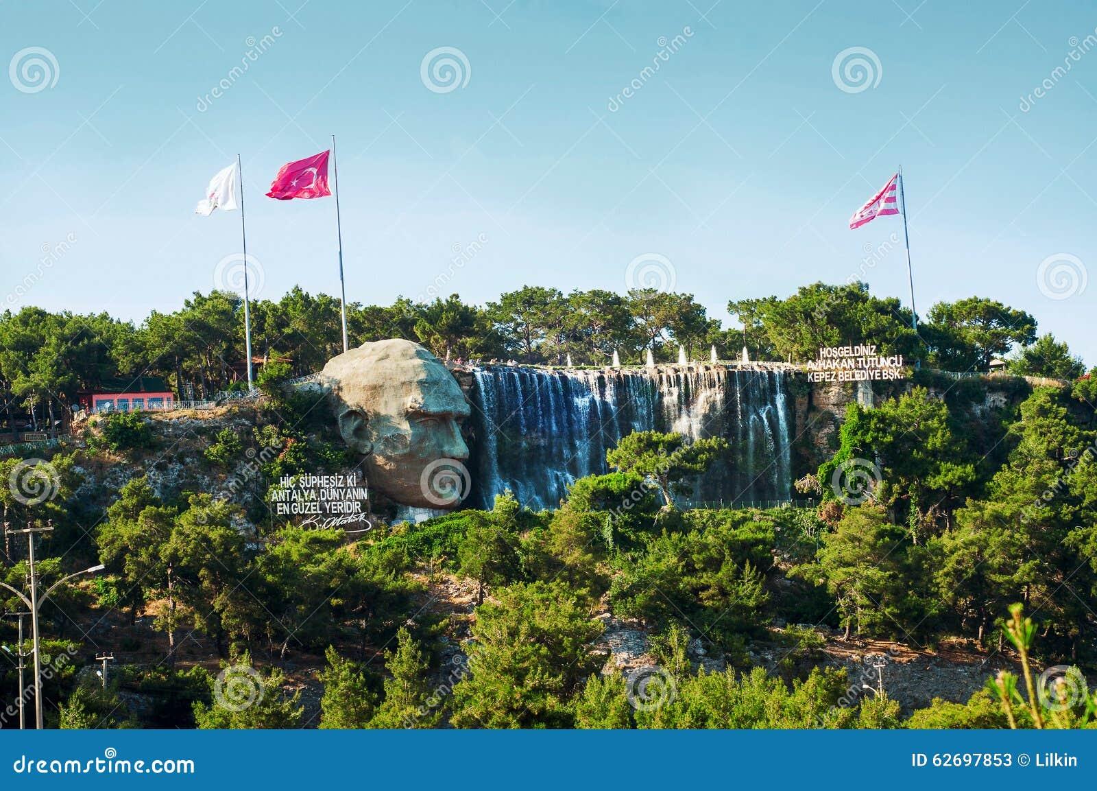 Ataturk relief in Antalya, Turkey