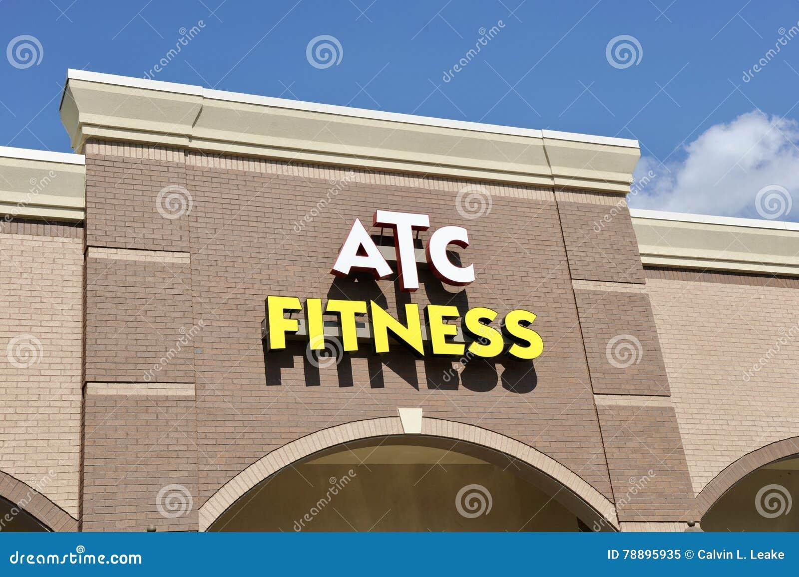 atc fitness gym sign memphis tn editorial photo 78895935. Black Bedroom Furniture Sets. Home Design Ideas