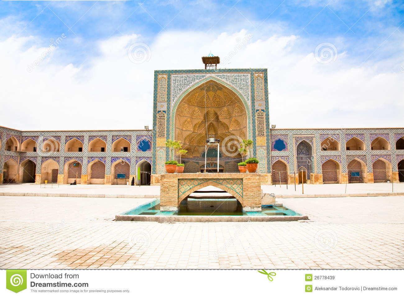 Download Ateegh Jame (Friday) Mosque.Esfahan, Iran Stock Image - Image of attraction, circle: 26778439