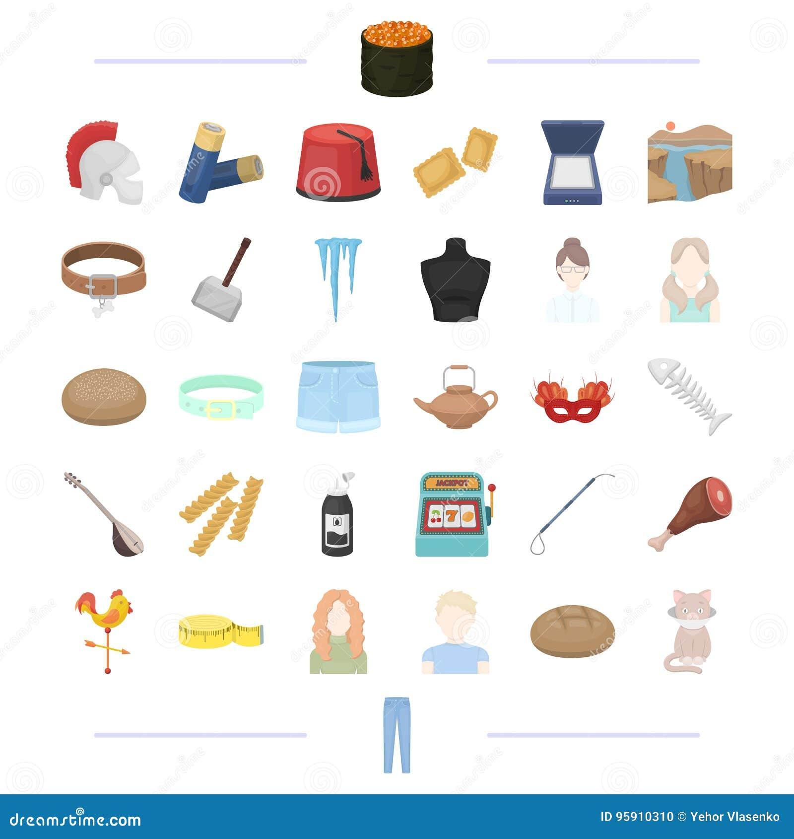Atelier, возникновение, hairdo и другой значок сети в стиле шаржа инструмент, еда, оборудование, значки перемещения в собрании ко