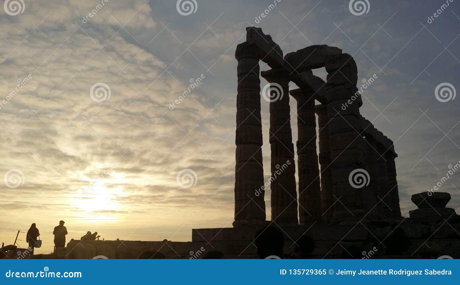 Ateny, Grecja, Grudzień 15, 2014: Zabytki