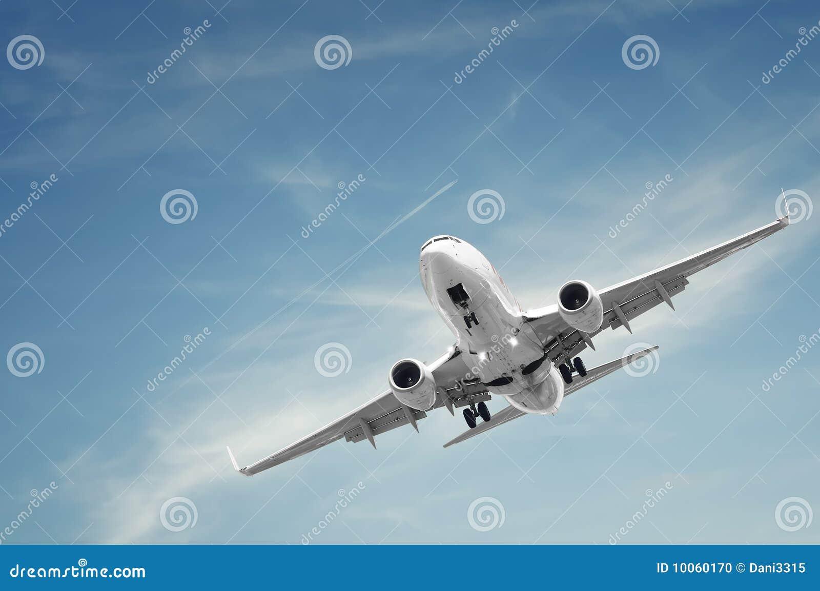 Aterragem de avião do passageiro