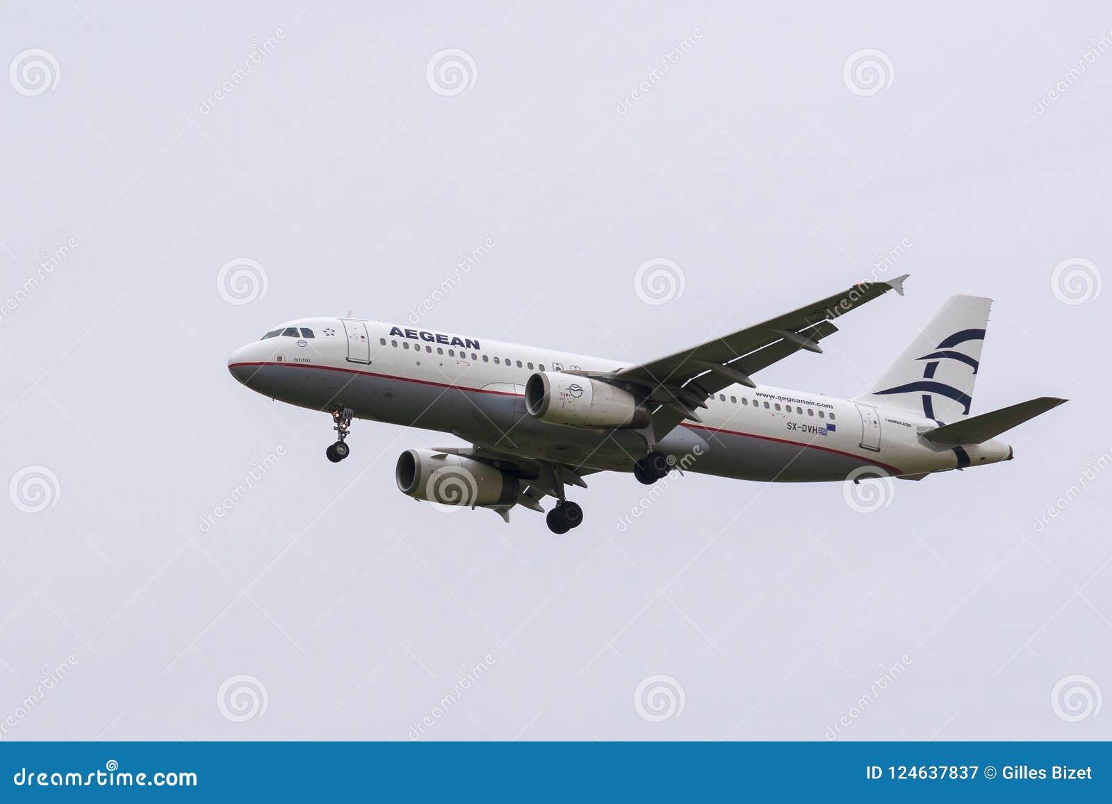Aterrissagem de Aegean Airlines Airbus A320-232