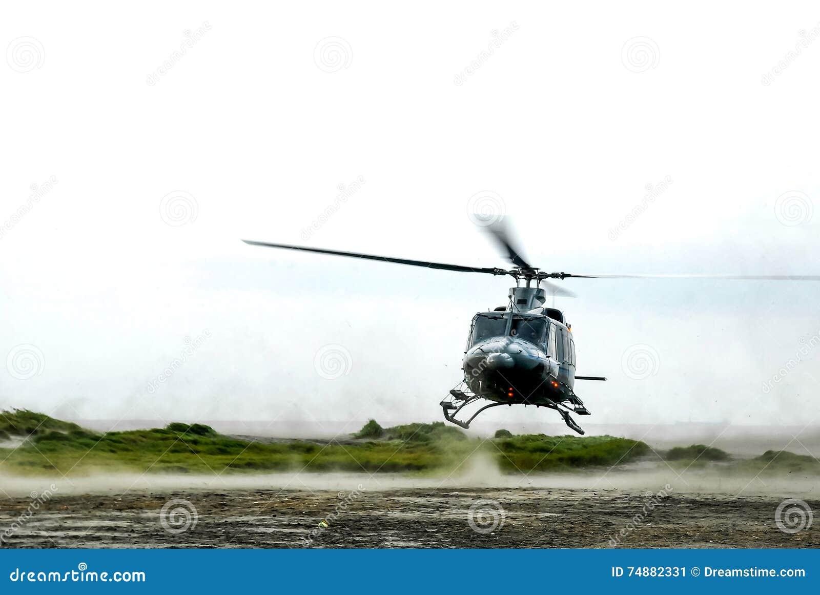 Aterrissagem do helicóptero