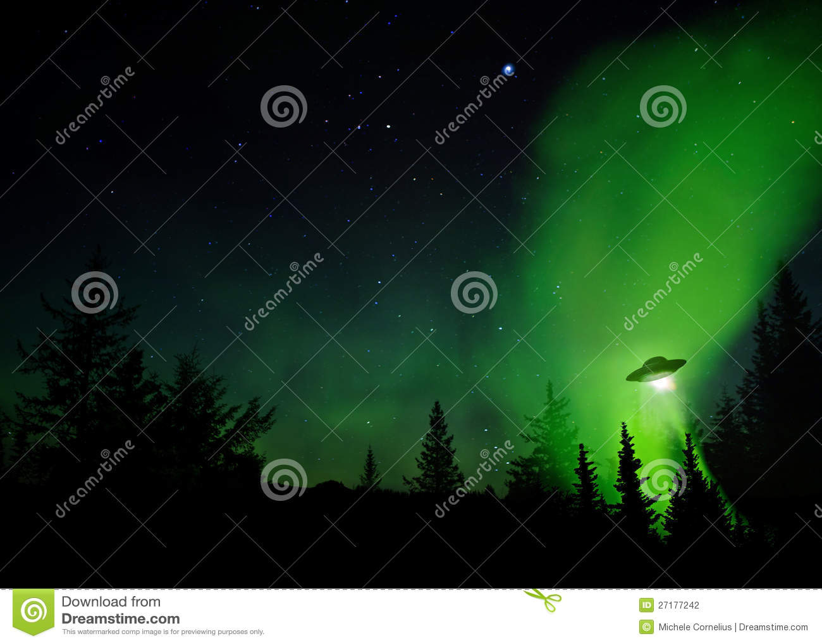 Aterrizaje del UFO