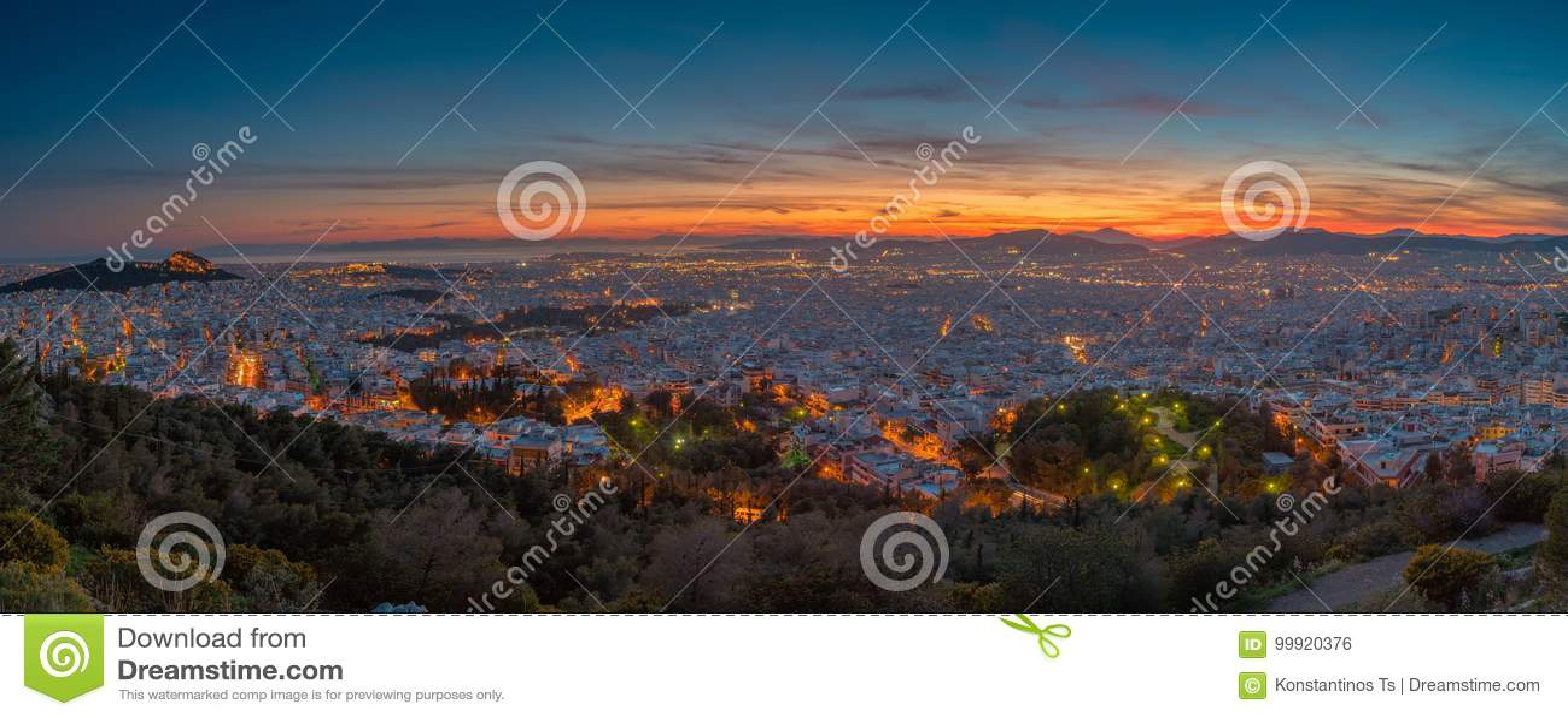 Athènes à l heure bleue