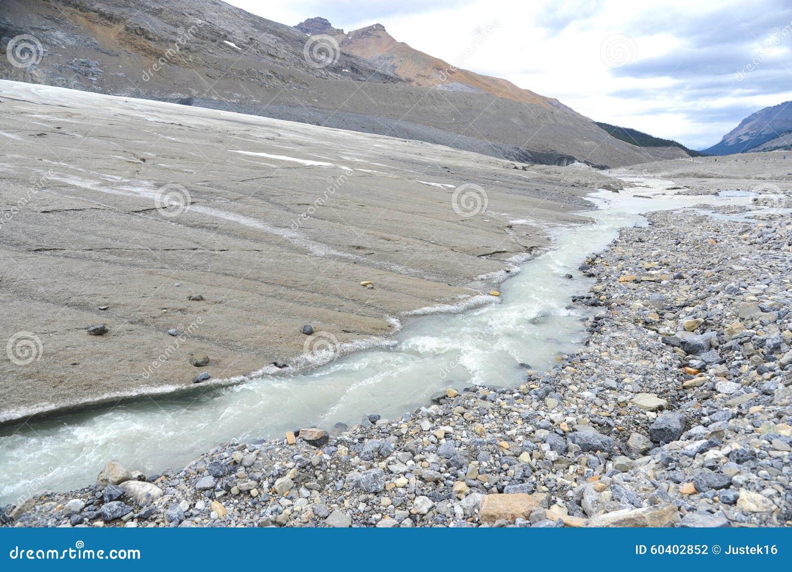 Athabasca冰川边缘