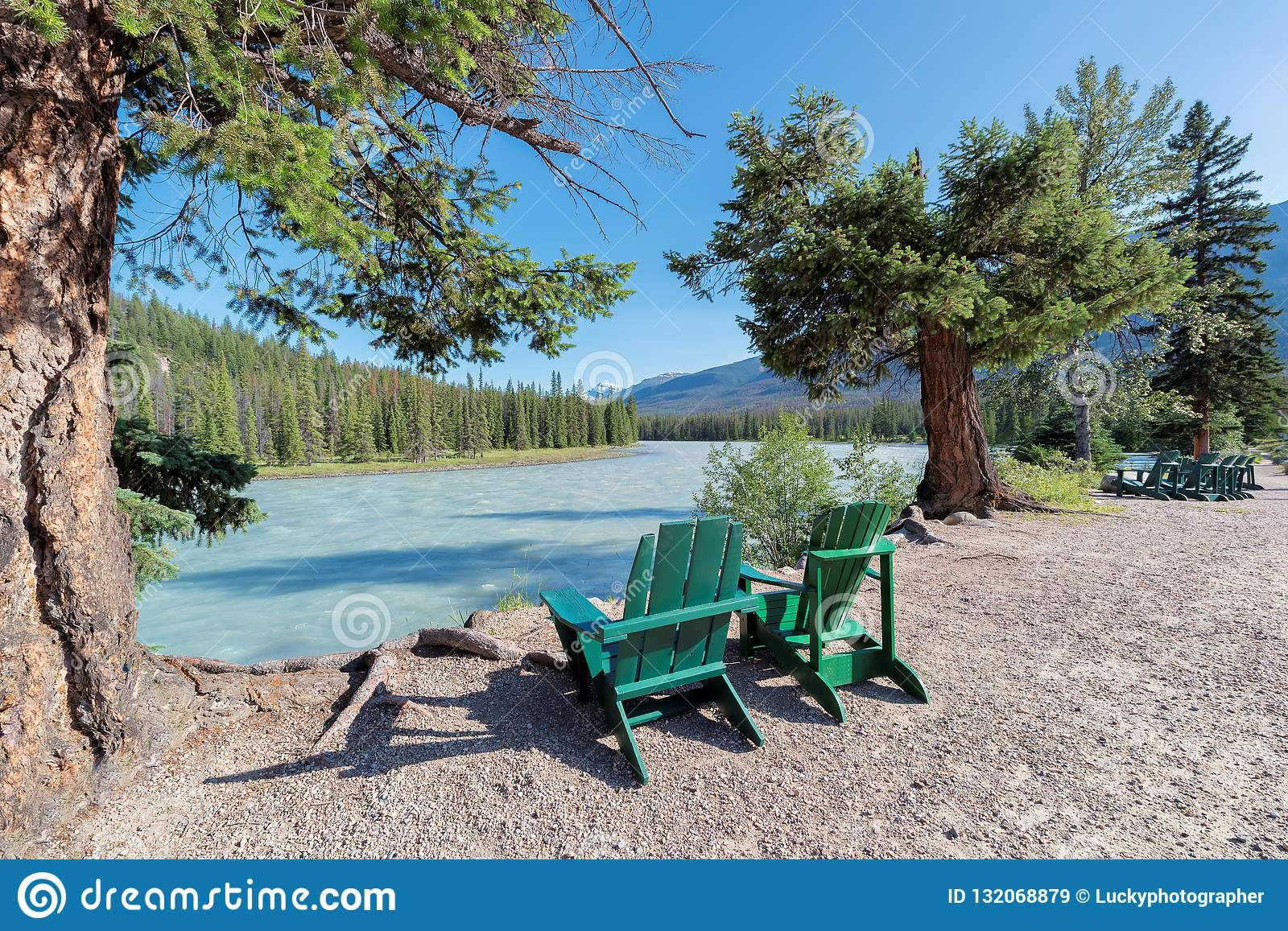 Athabasca River In Banff National Park Stock Image - Image ...