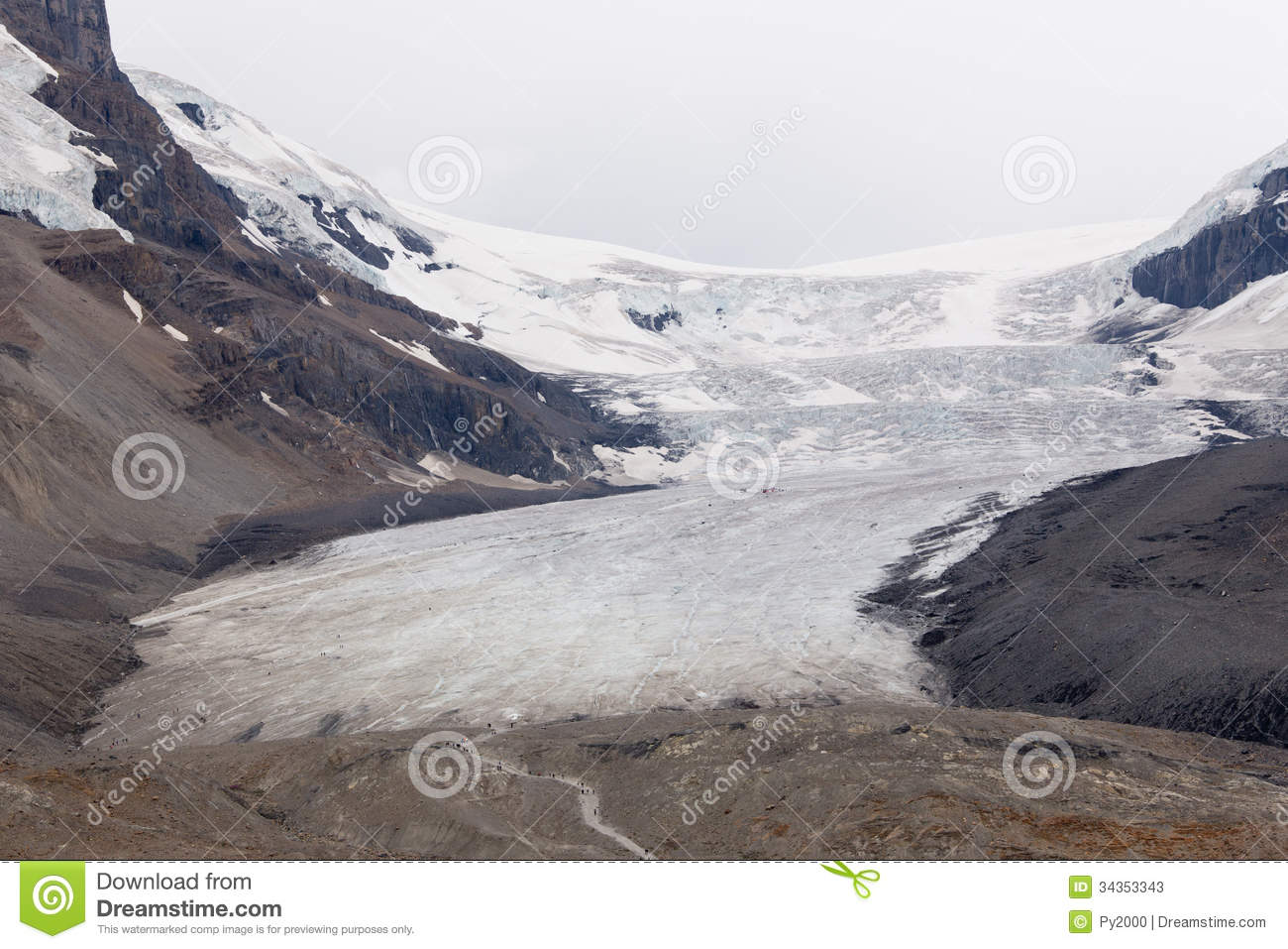 Athabascagletsjer, Colombia Icefield