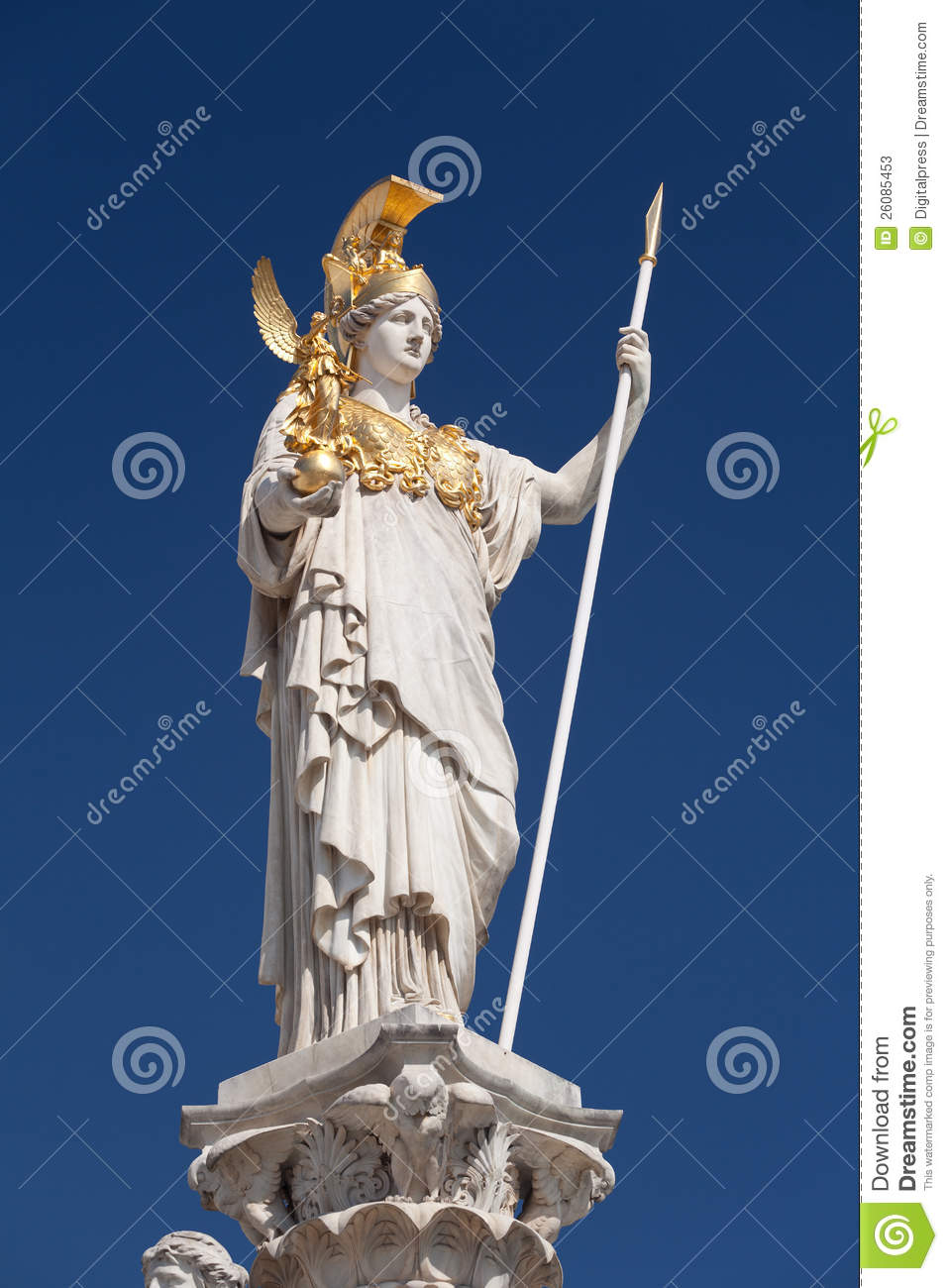 Athena Goddess Of Greek Mythology Stock Image Image Of Minerva