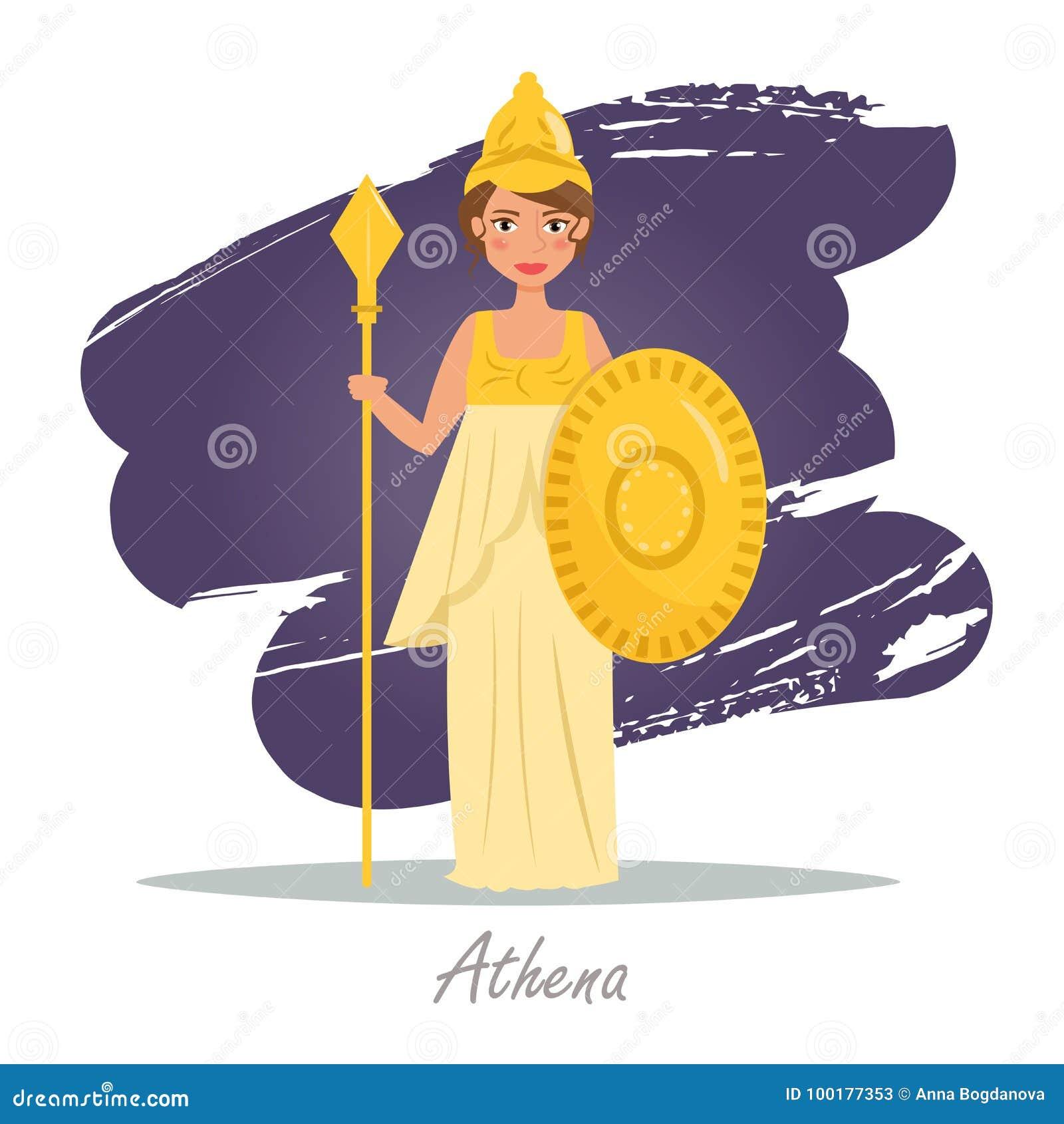 Athena. Greek gods. Vector stock vector. Illustration of ...