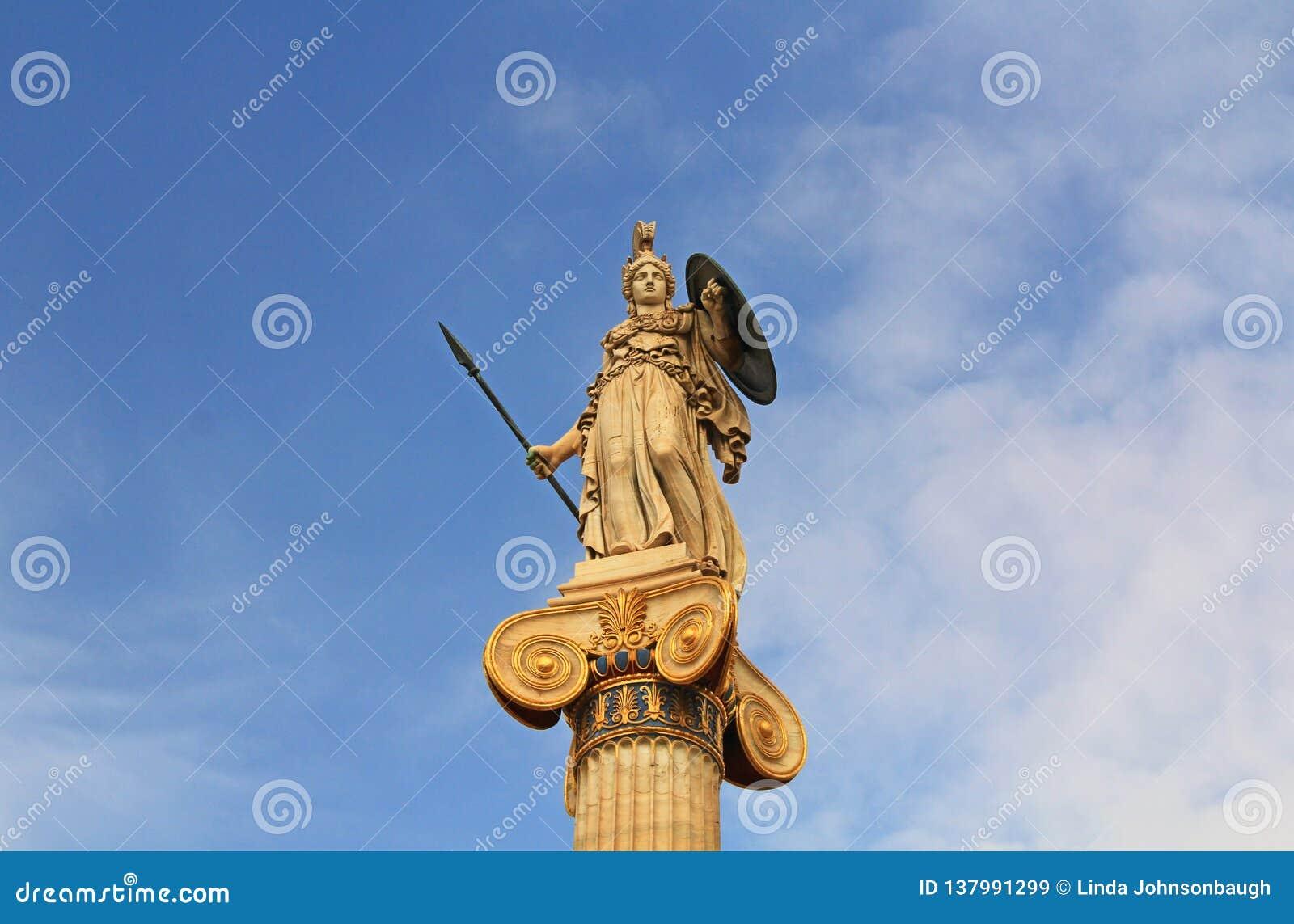 Athena Statue - académie nationale des arts à Athènes, Grèce