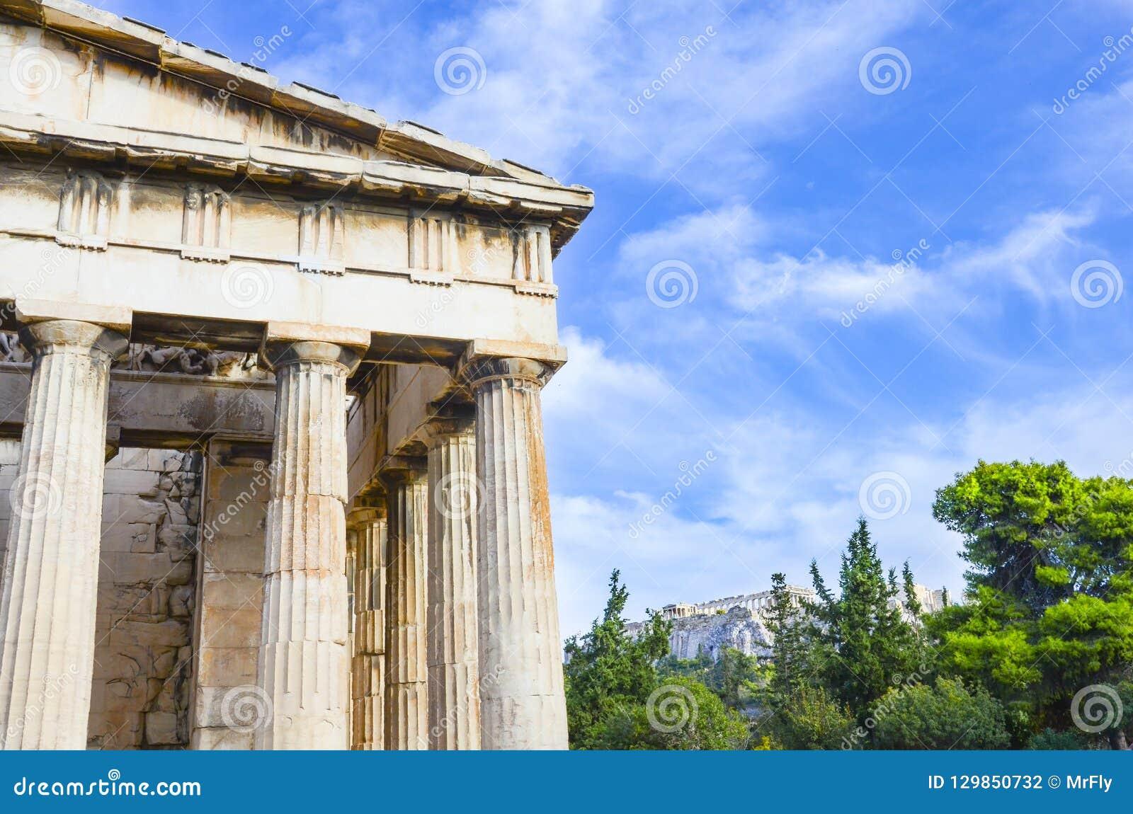 Athens Greece hephaestus świątynia