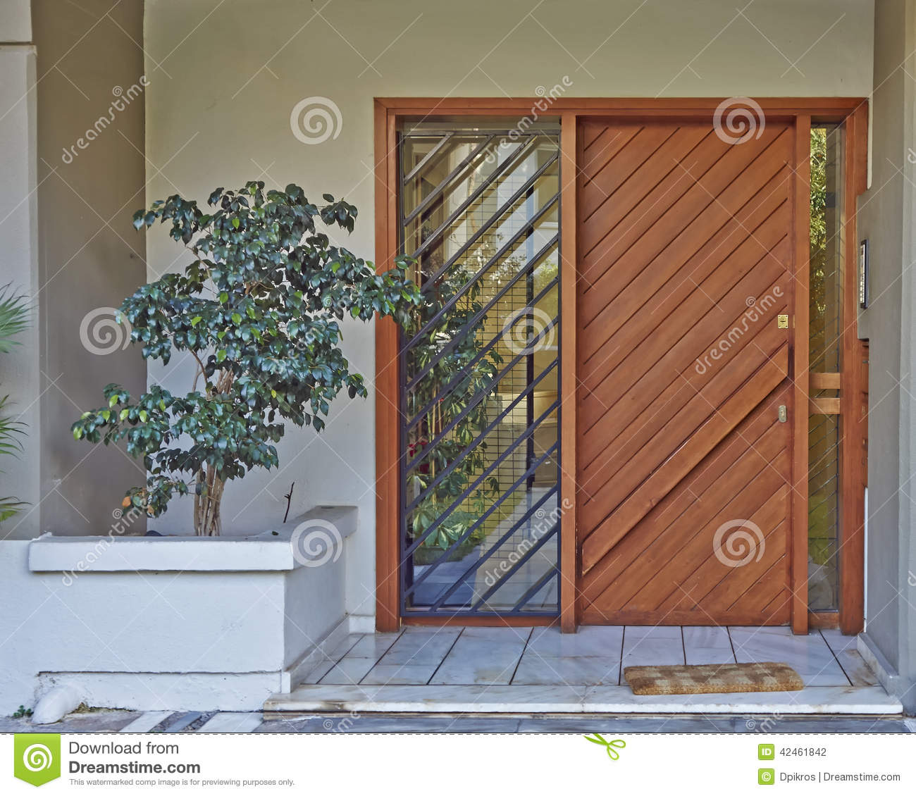 Athens Greece House Entrance Stock Photo Image 42461842