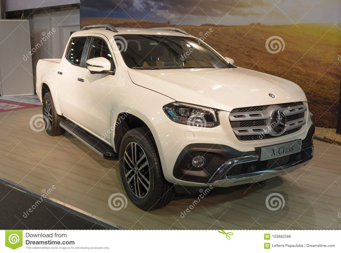Download ATHENS, GREECE   NOVEMBER 14, 2017: Mercedes Benz X Class