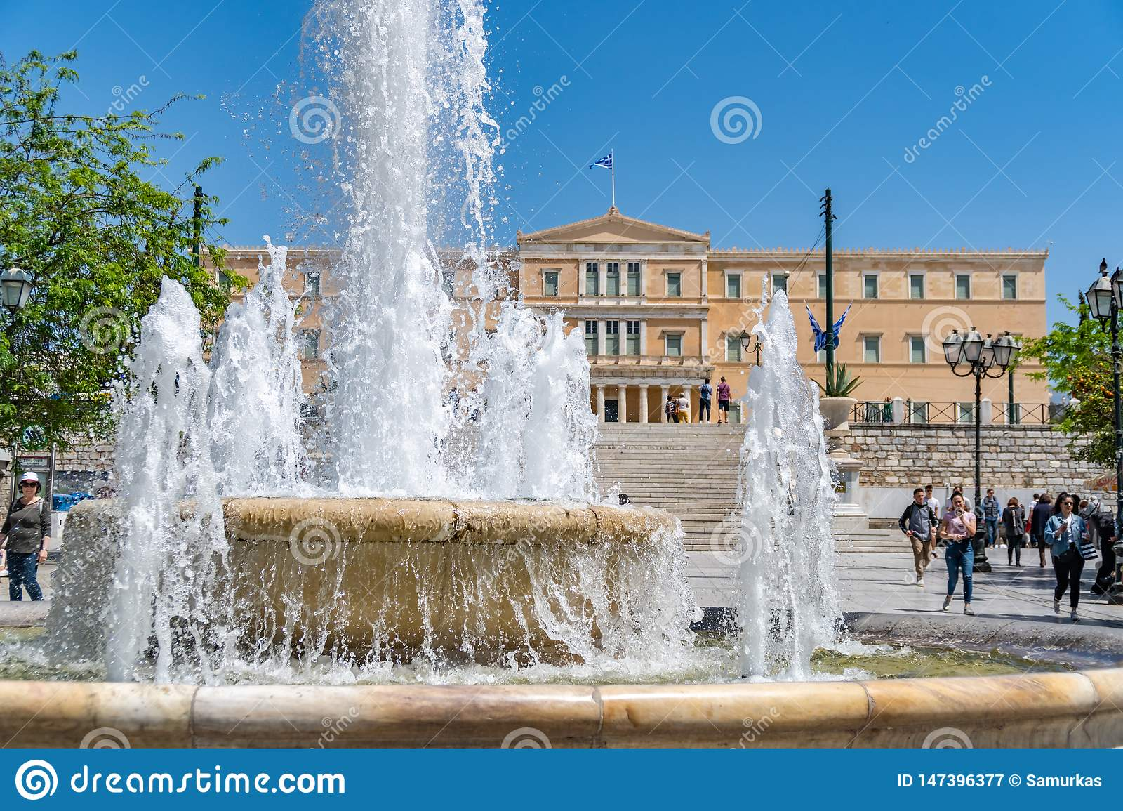 Athens, Greece - 27.04.2019: Official residence of the President of the Hellenic Republic