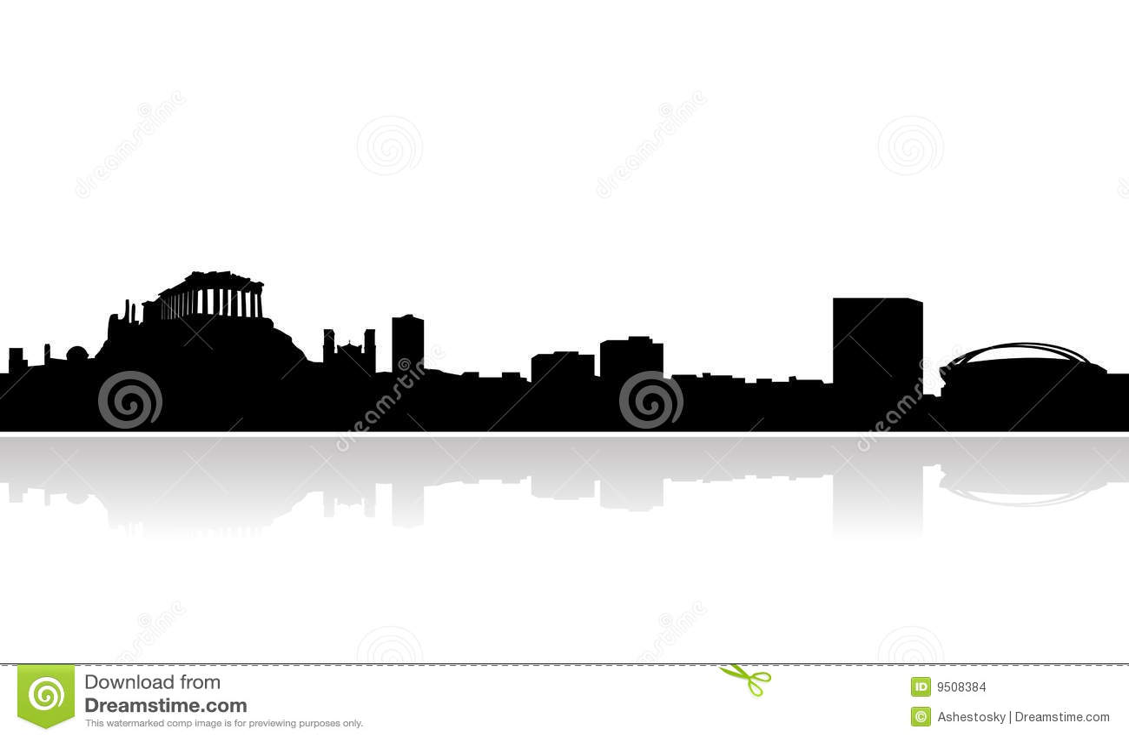 Athens horisontvektor