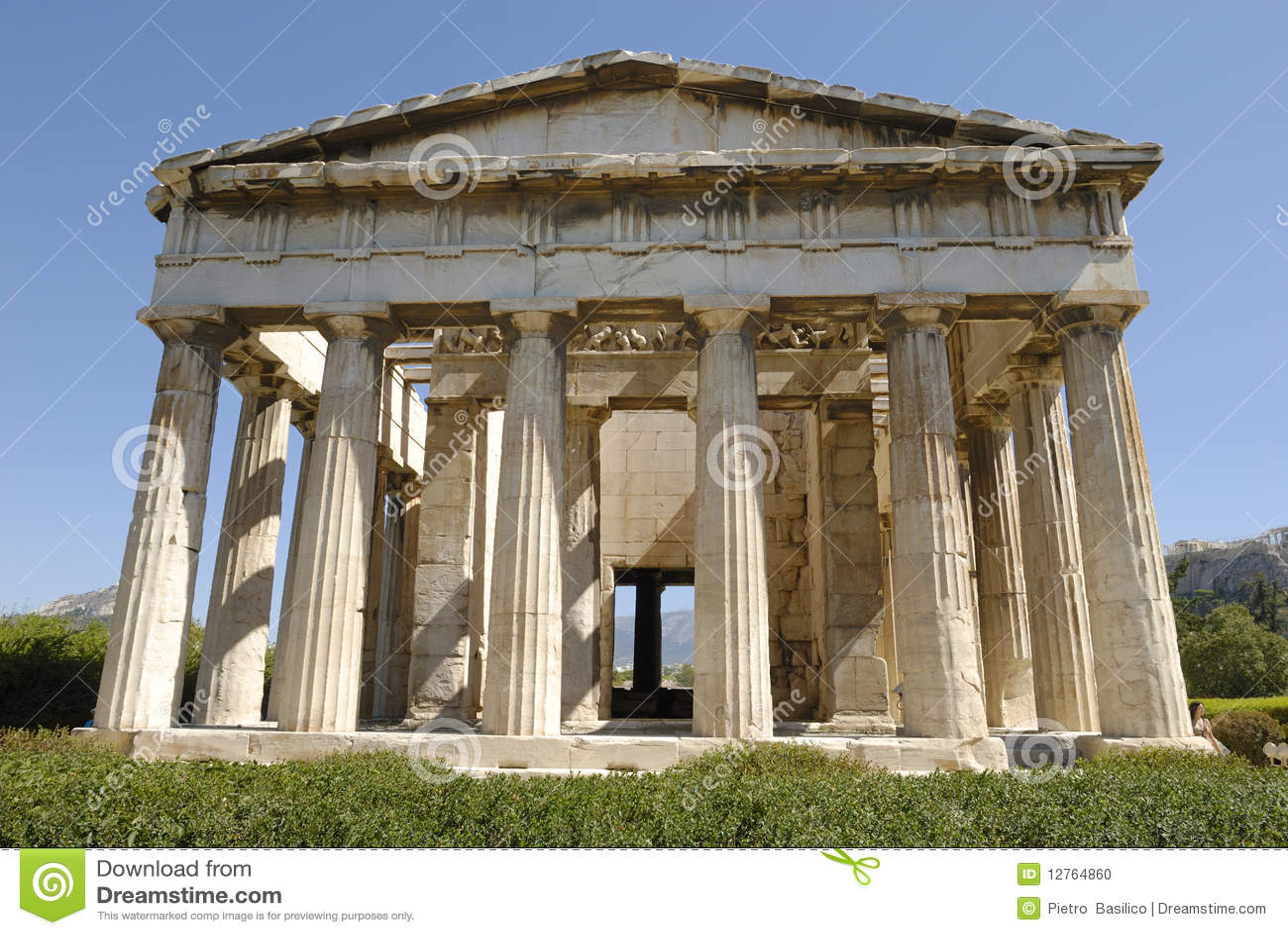 Athens Temple Of Hephaestus Stock Photo - Image: 12764860