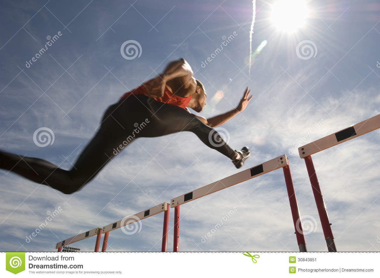 Athlète masculin Jumping Hurdle