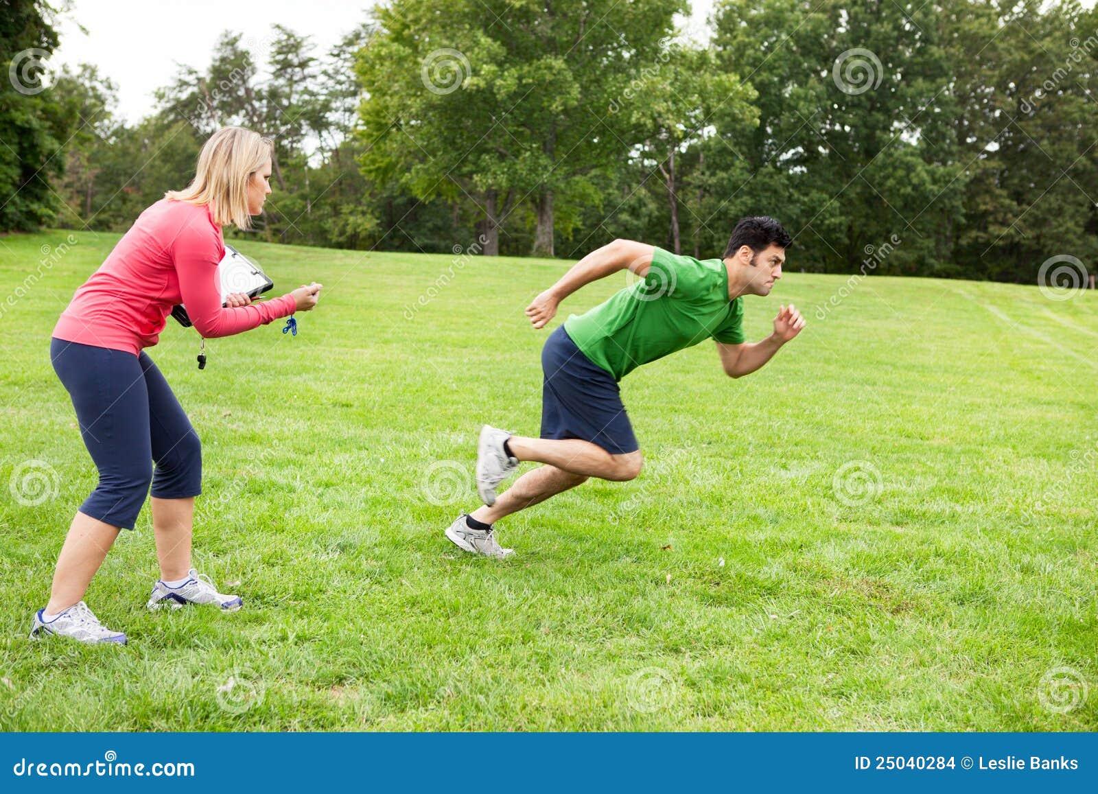 Athlète sprinting