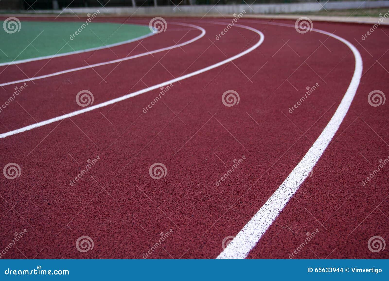 Athlète Track ou fonctionnement avec scénique gentil