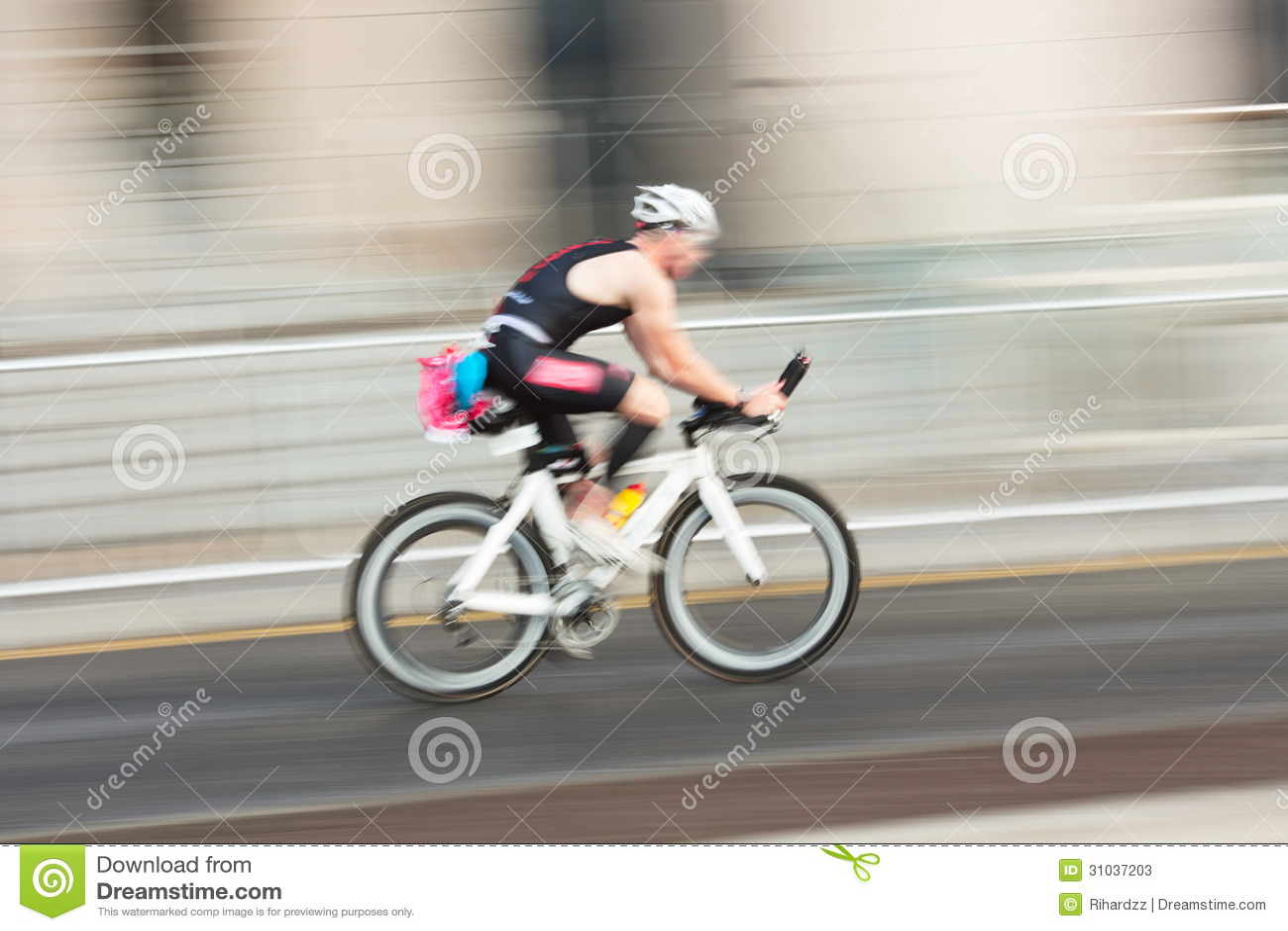 Athlet ridningcykel
