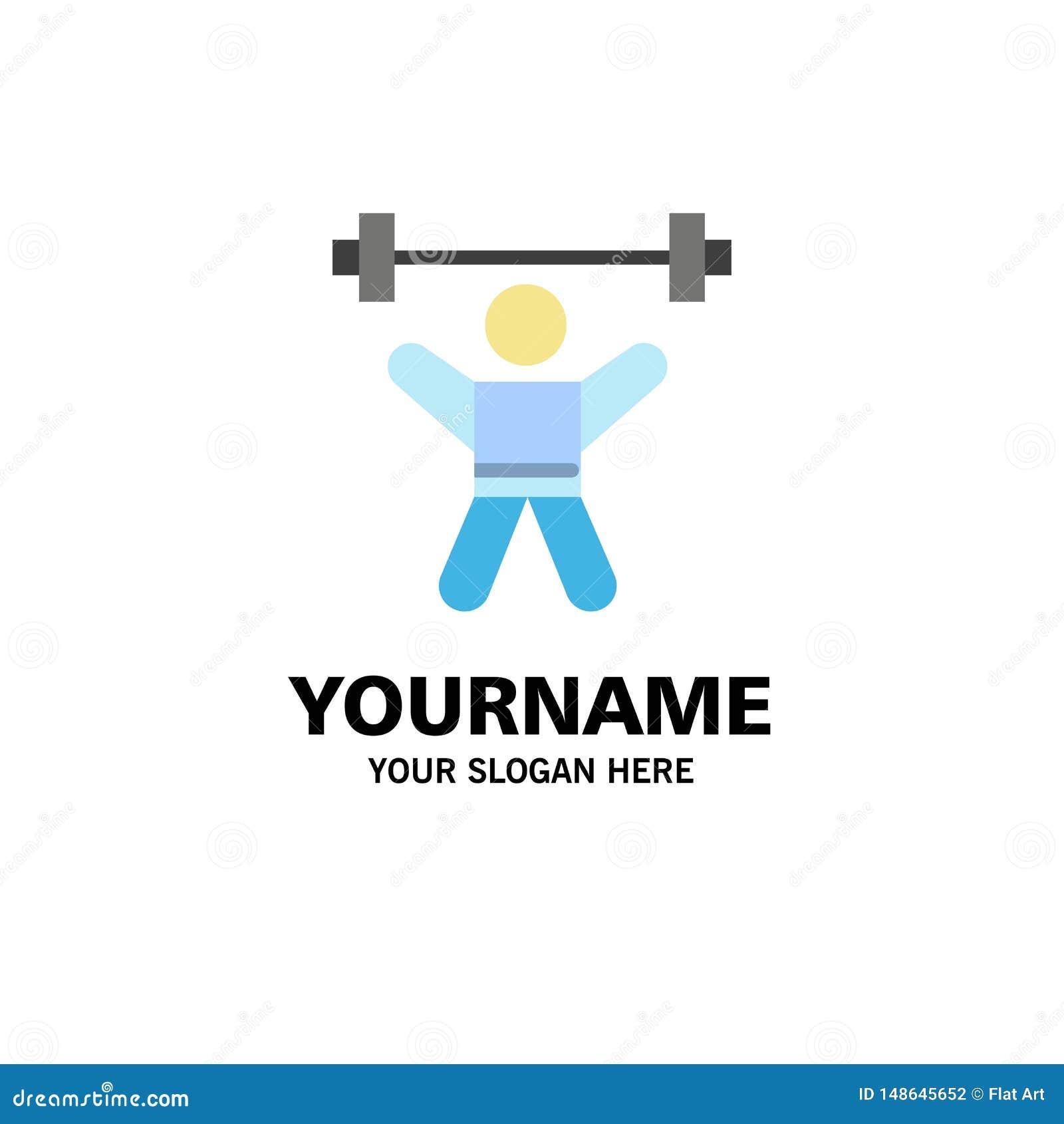 Athlete, Athletics, Avatar, Fitness, Gym Business Logo Template. Flat Color