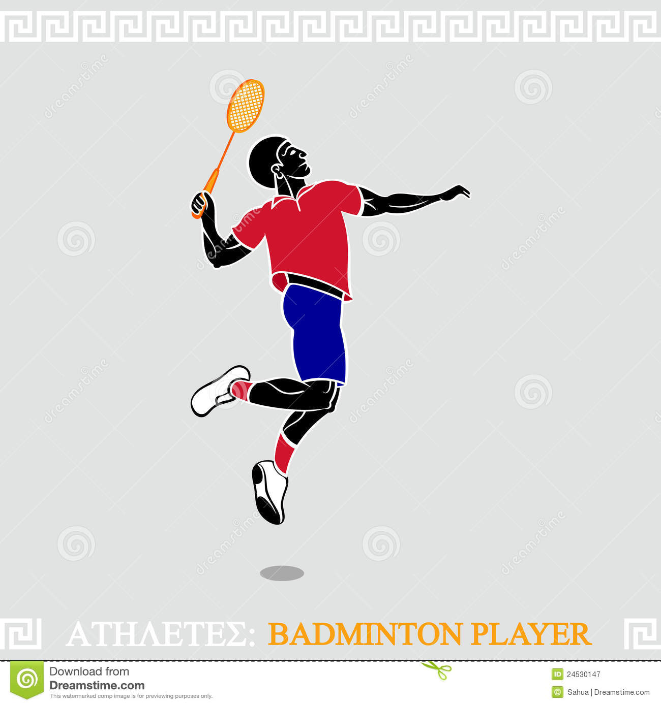 Athlete Badminton Player Royalty Free Stock Photography ... Badminton Player Positions