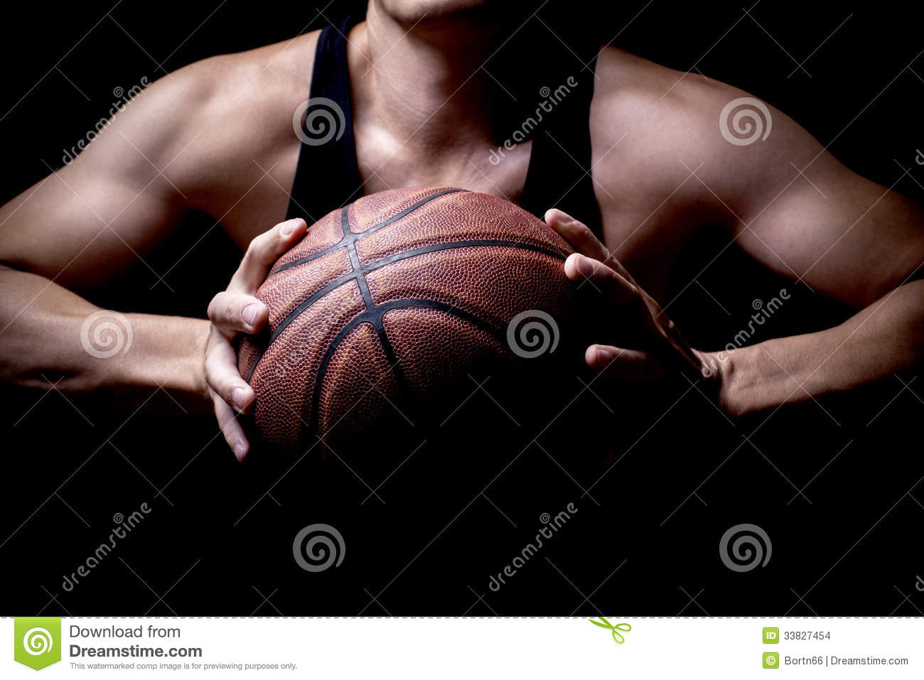 Athlete with a basketball