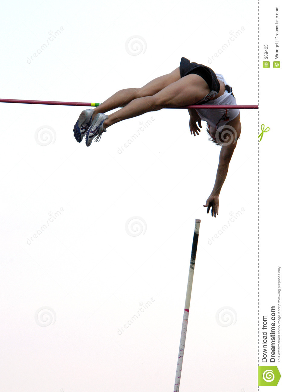 Athlete Clearing the Bar