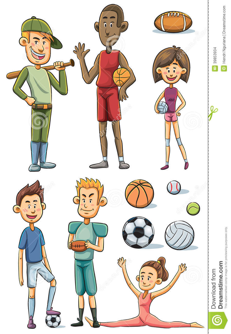 Athlete Collection Stock Vector Image 39853934