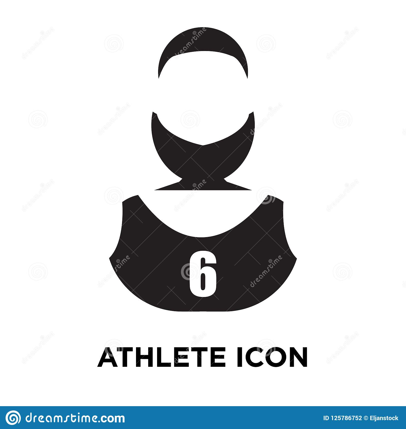Athlete icon vector isolated on white background, logo concept o