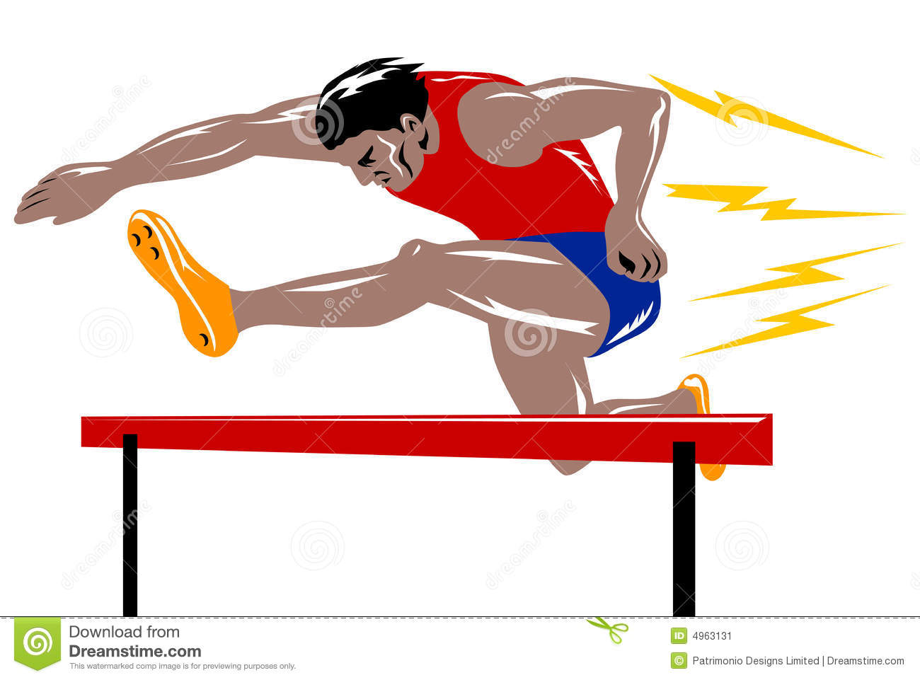 Athlete jumping the hurdle stock vector. Illustration of ...