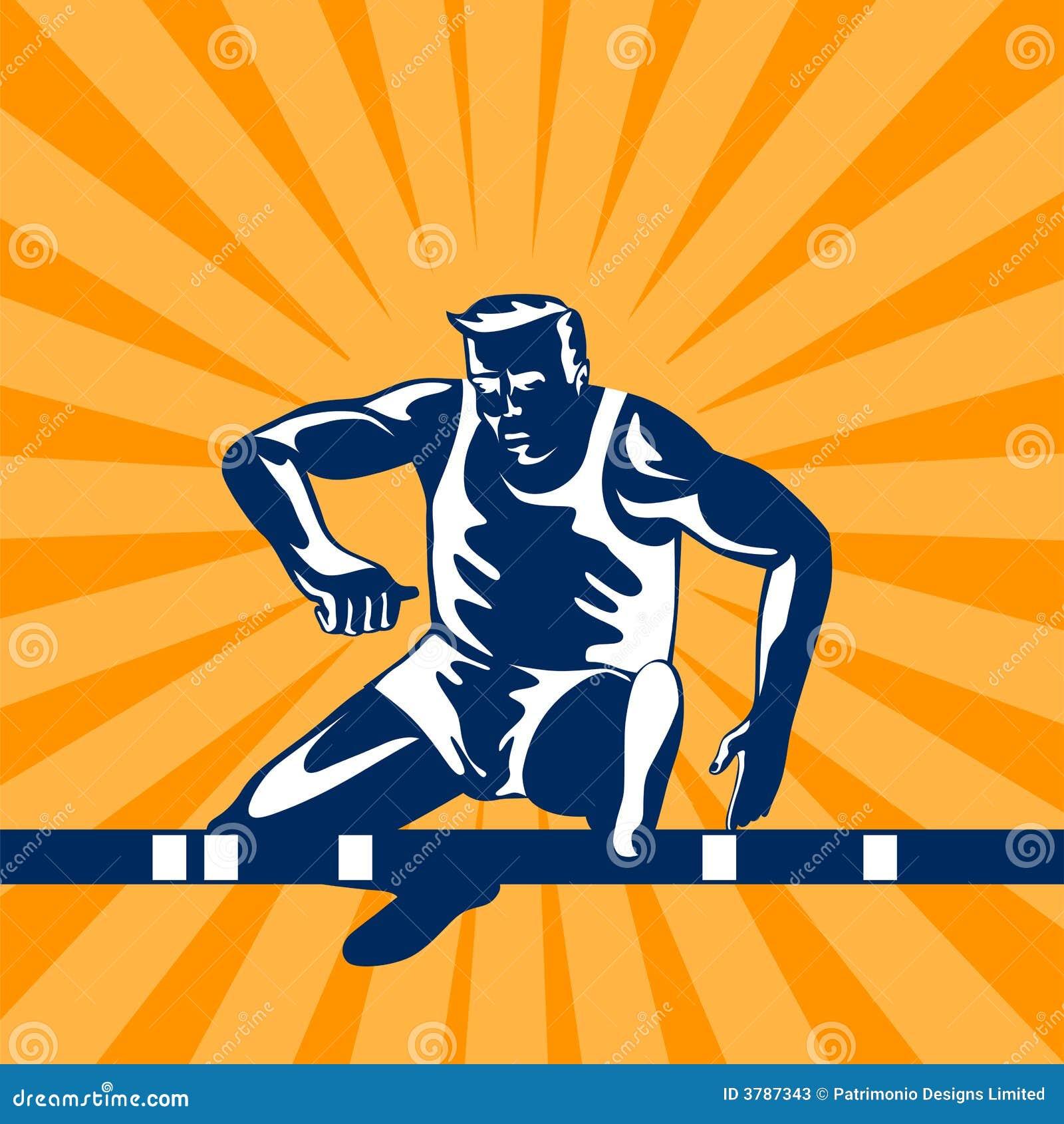 Athlete Jumping Hurdles Stock Photos - Image: 3787343
