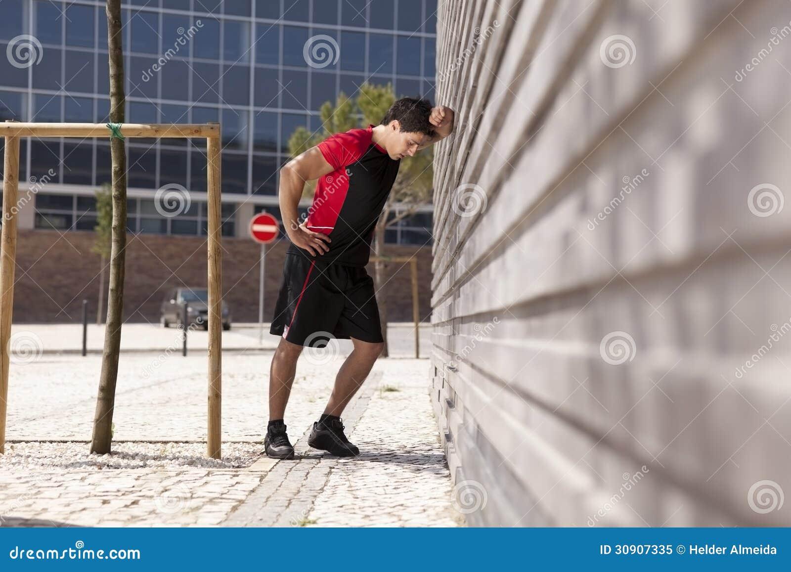 Athlete Man Tired Royalty Free Stock Photo Image 30907335