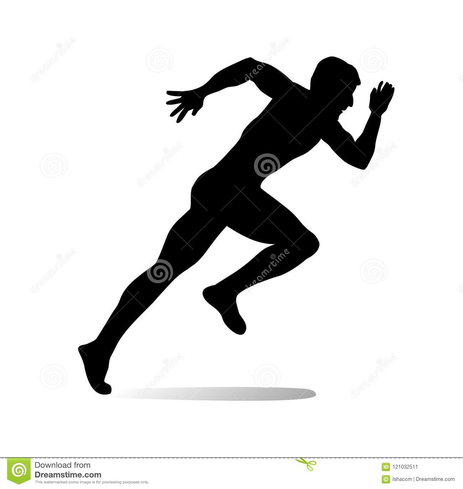 athlete silhouette vector.sports illustration. stock vector - illustration  of marathone, athlete: 121032511  dreamstime.com