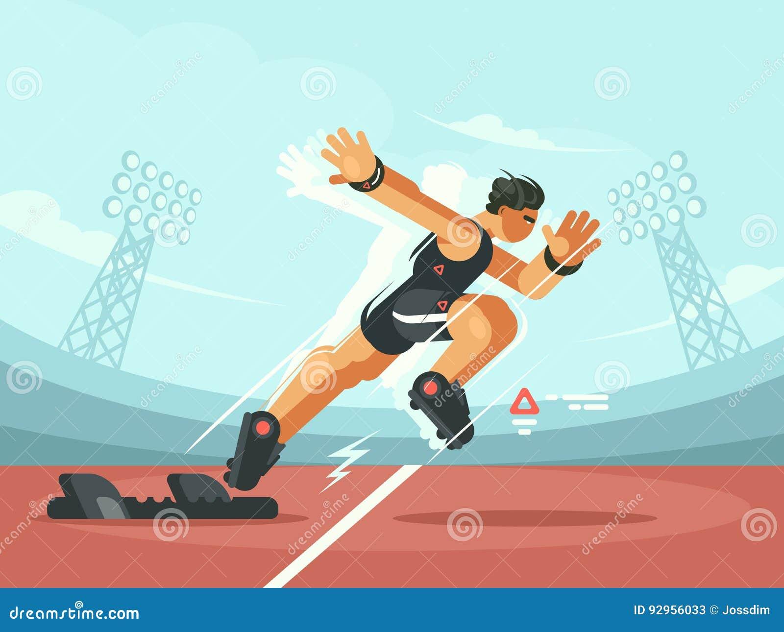 Athlete sprint start