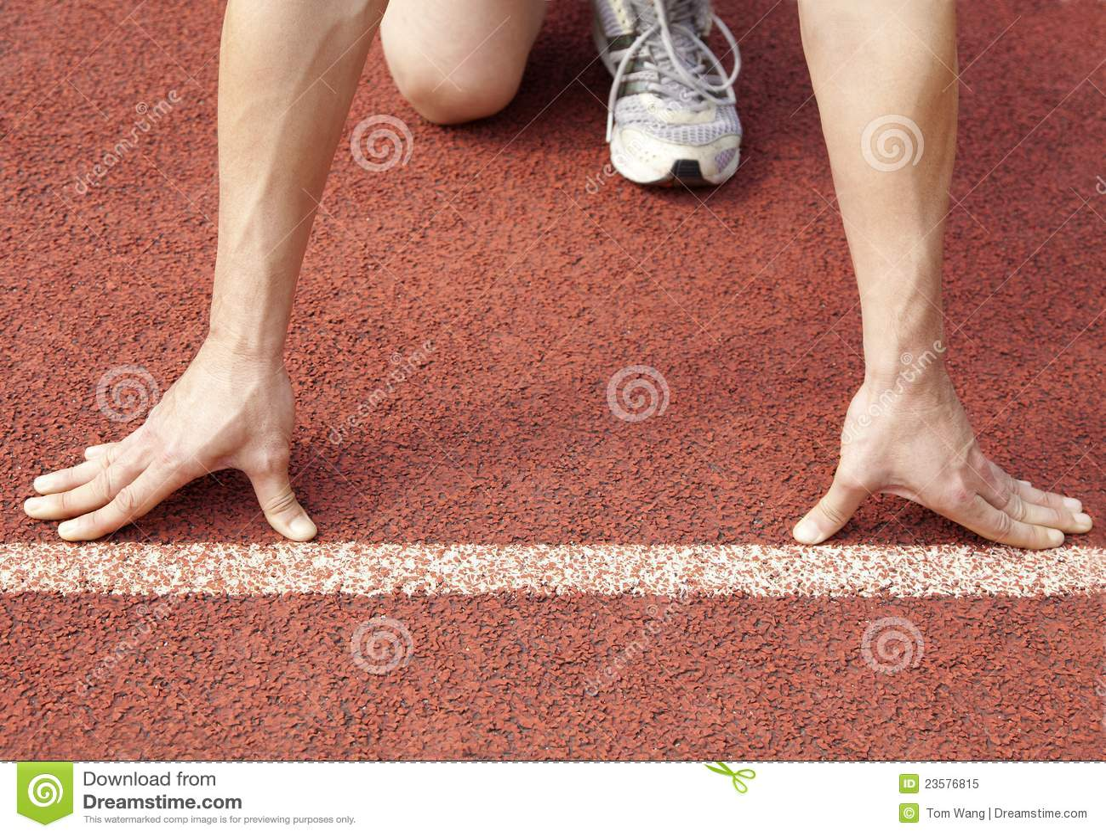 Athlete Start Of A Race Stock Image  Image Of Runner