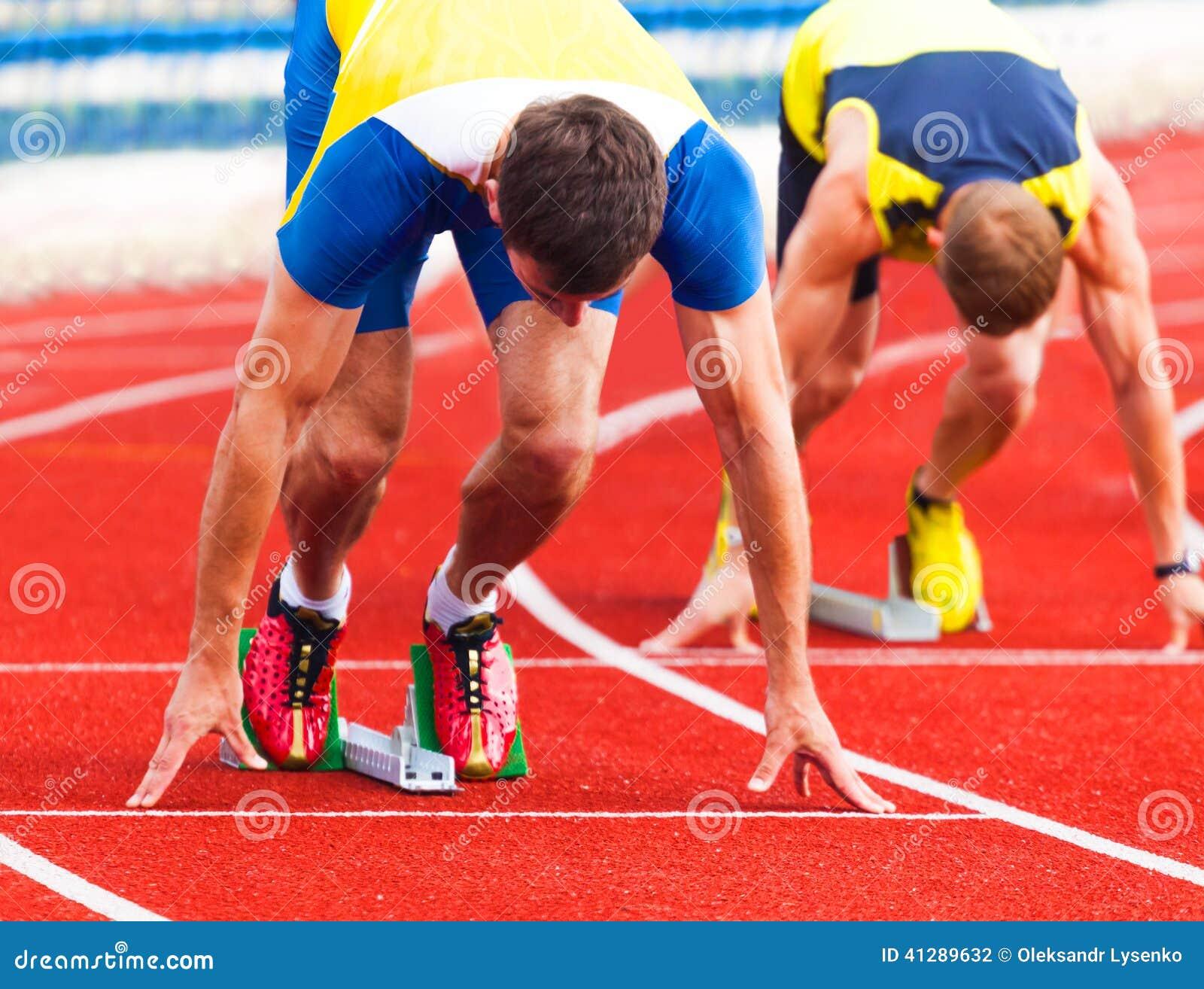 Athleten beim Anfang