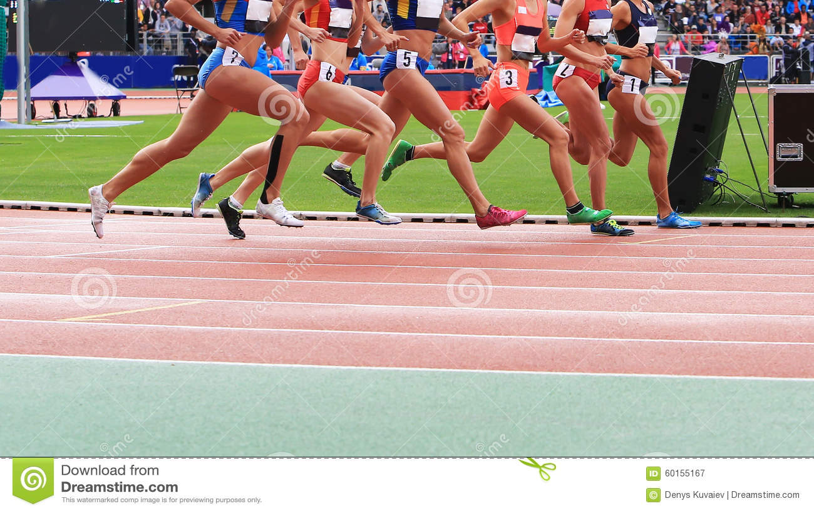 Athleten konkurrieren im Rennen