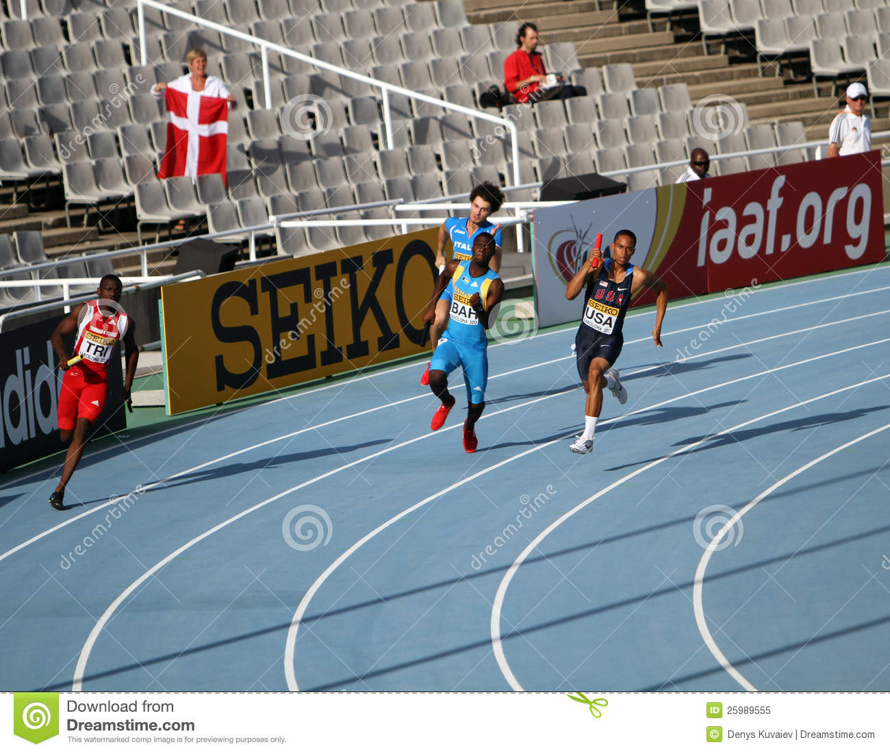 athletes on the 4 x 100 meters relay race editorial image 25989660. Black Bedroom Furniture Sets. Home Design Ideas